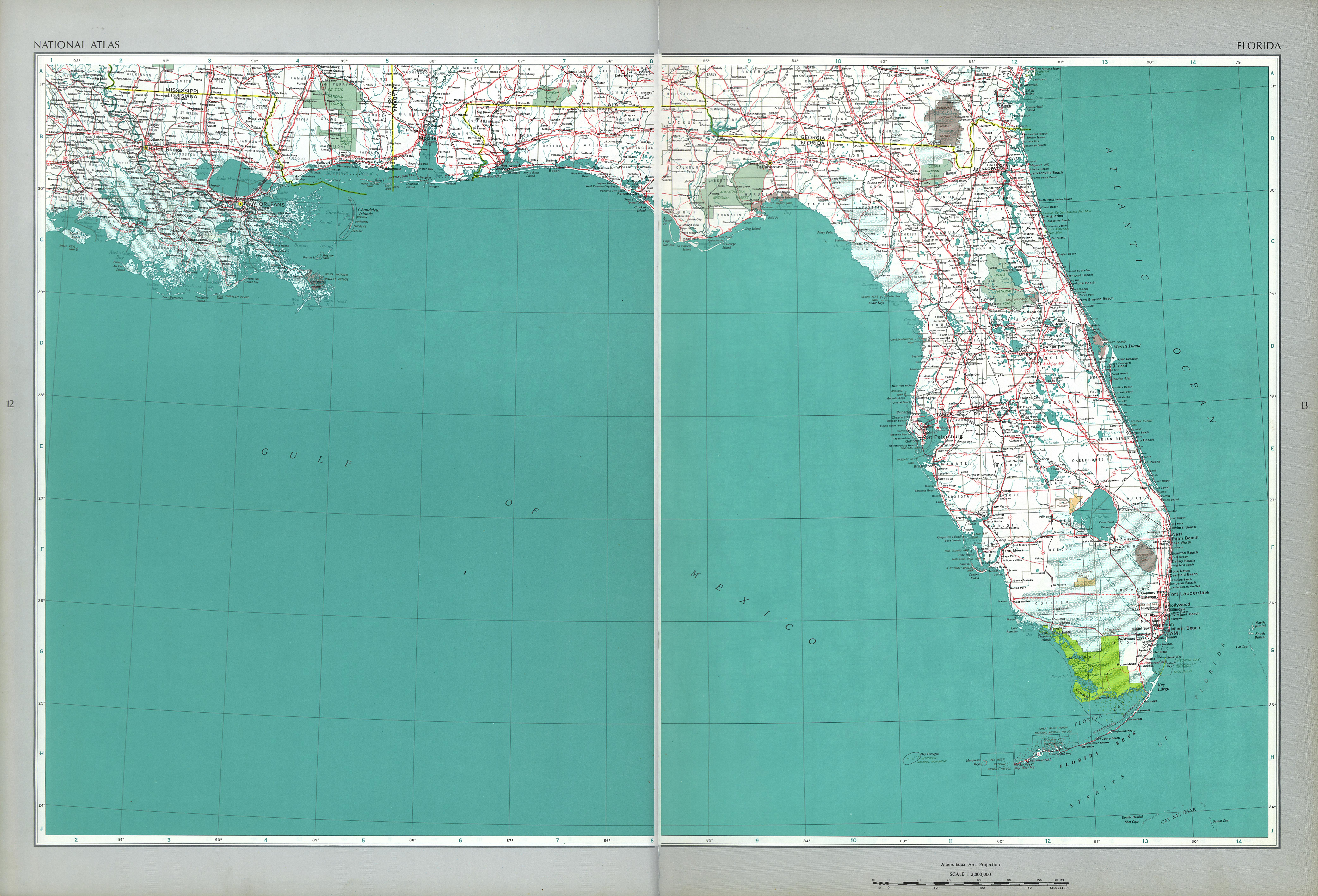 the national atlas of the united states of america 1970