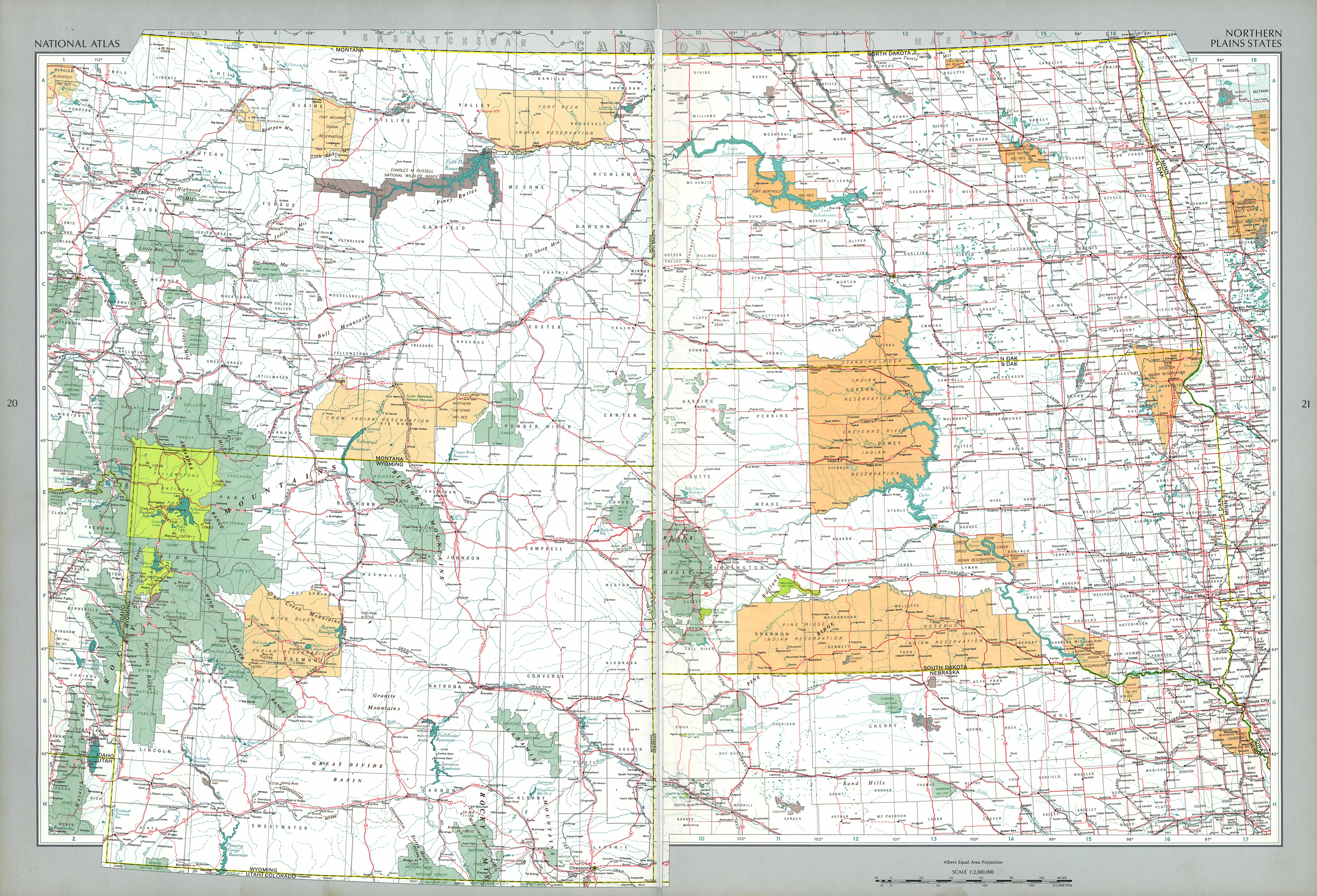 The National Atlas Of The United States Of America Perry Map Northern Usa