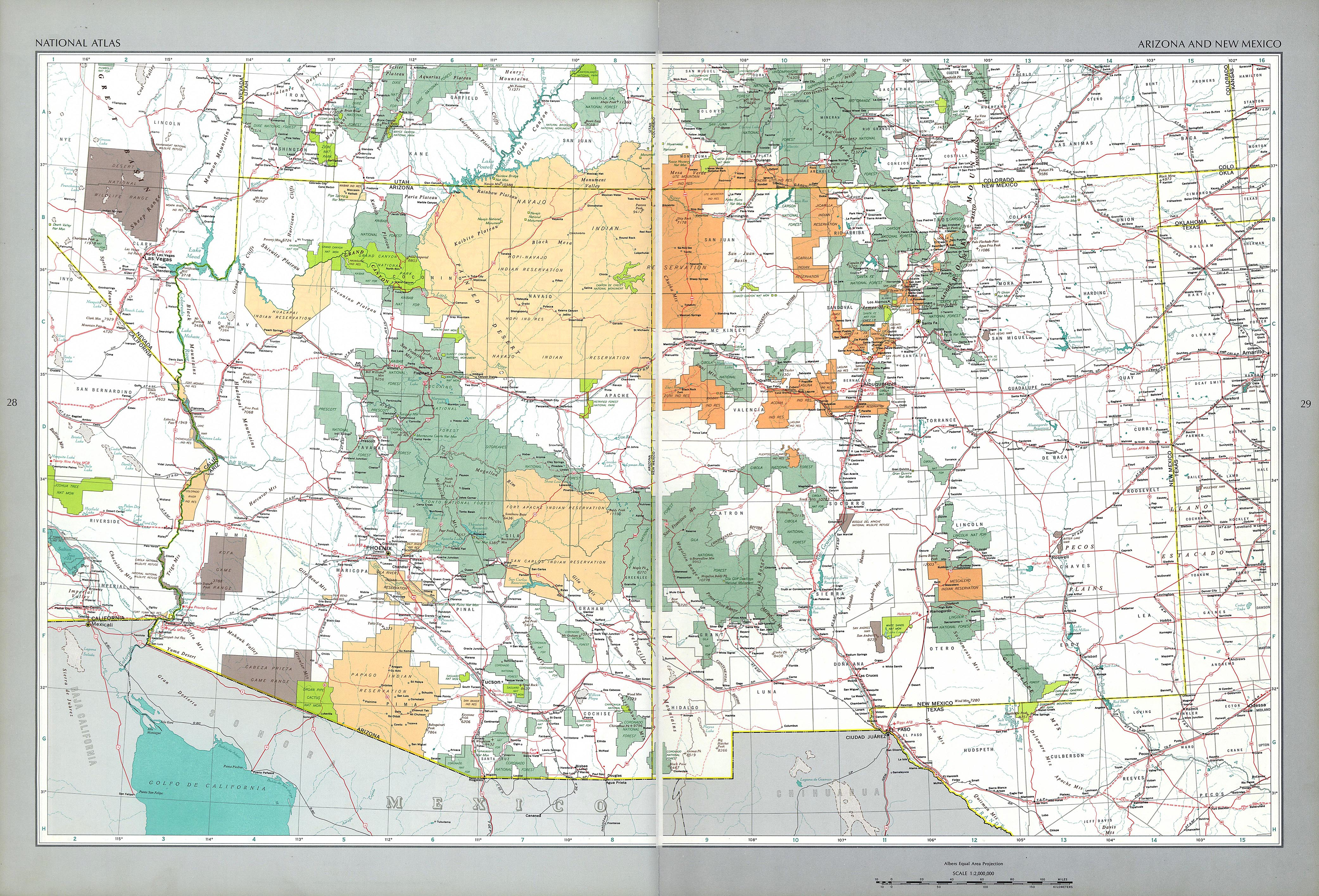 The National Atlas Of The United States Of America Perry - 1967 road map us