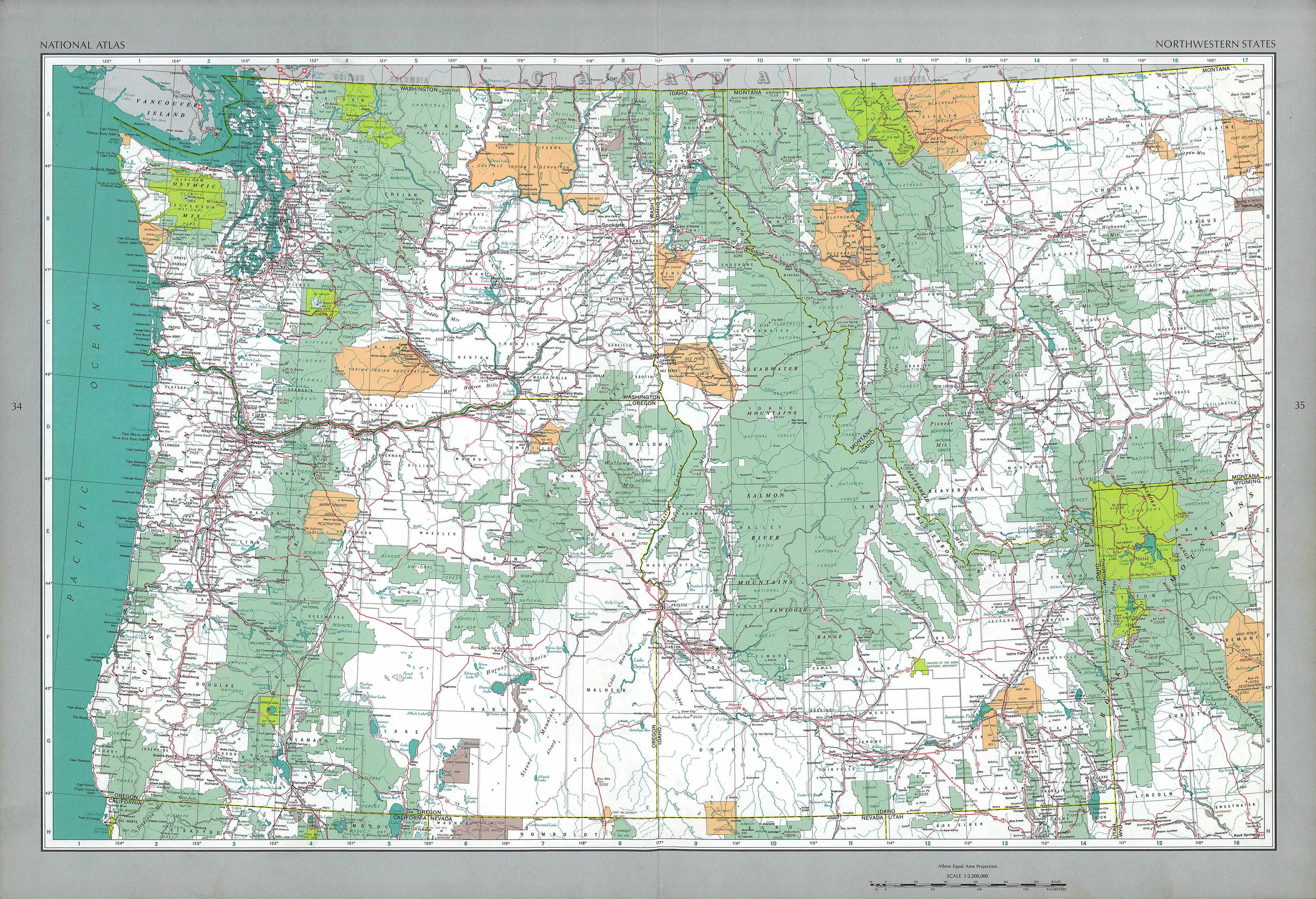 The National Atlas of the United States of America- Perry-Castañeda ...