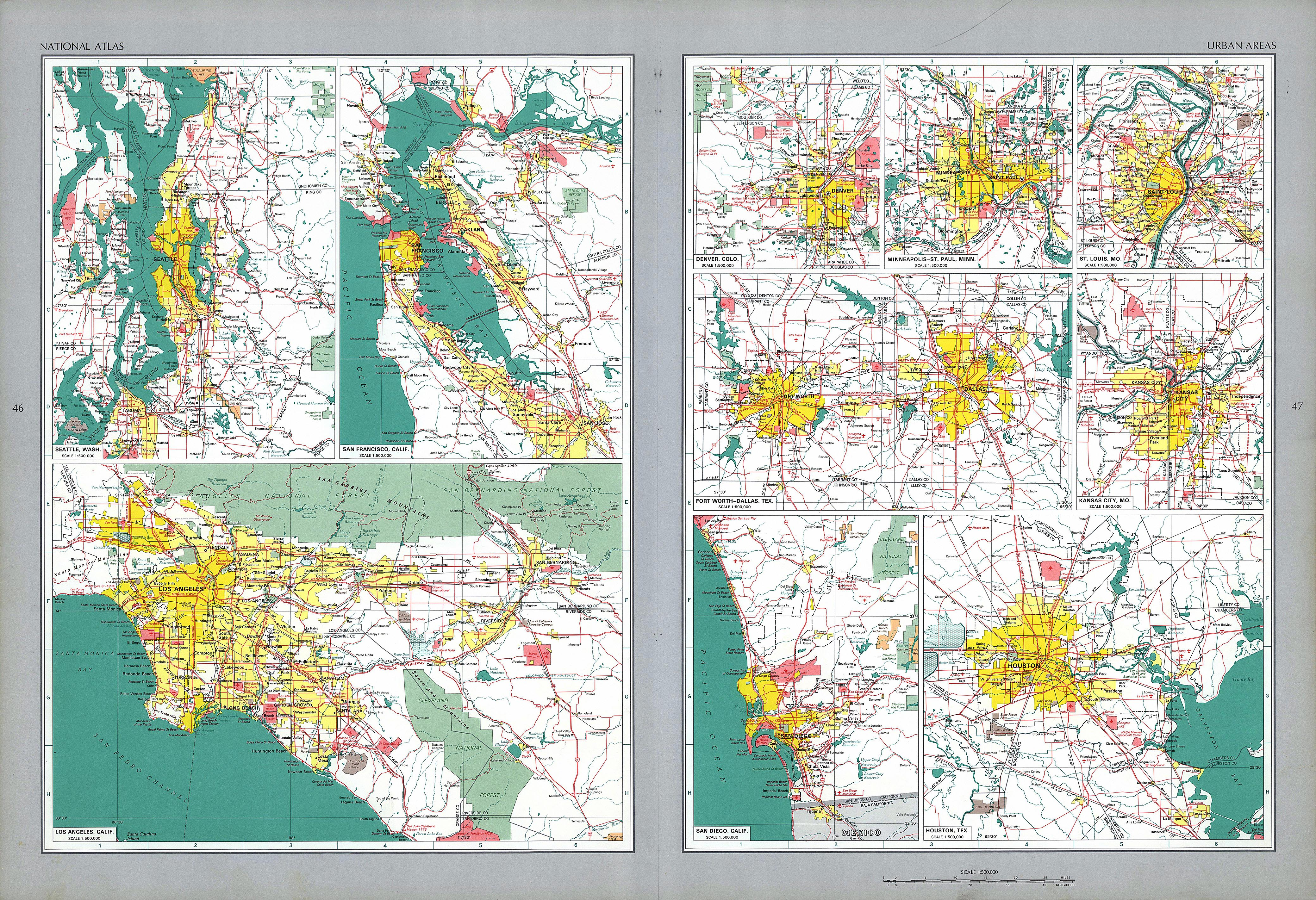 The National Atlas Of The United States Of America Perry - United states of america map los angeles