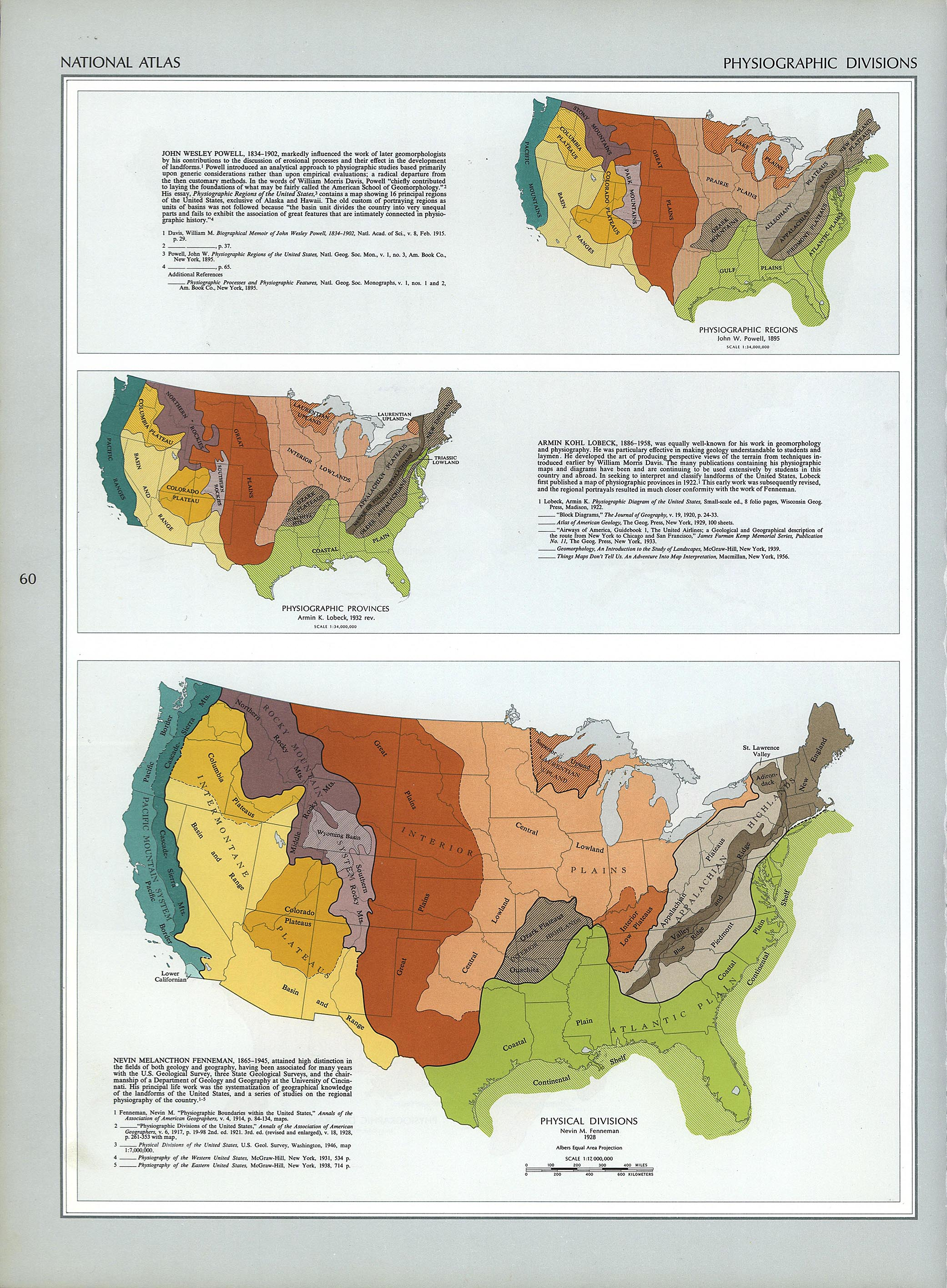 The National Atlas Of The United States Of America Perry - Us map with landforms