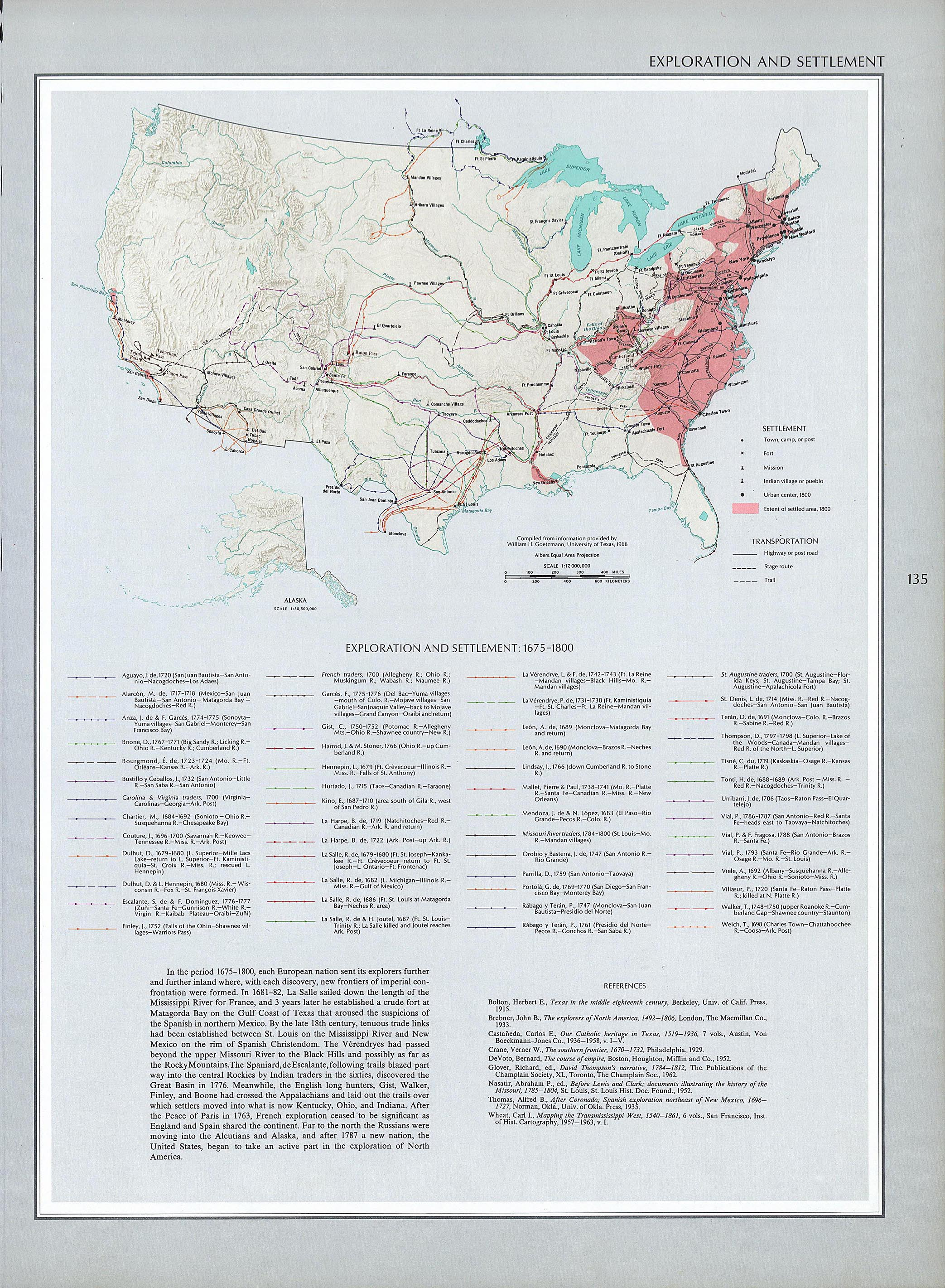 documents for the study of american history us history amdocs 1675 1800 map of the exploration and settlement of north america