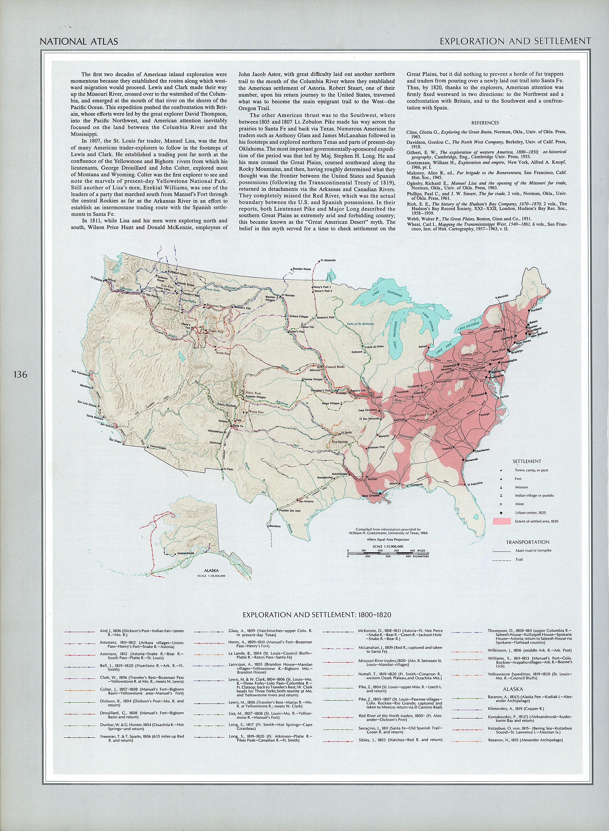 National Atlas Of The United States Of America 1970