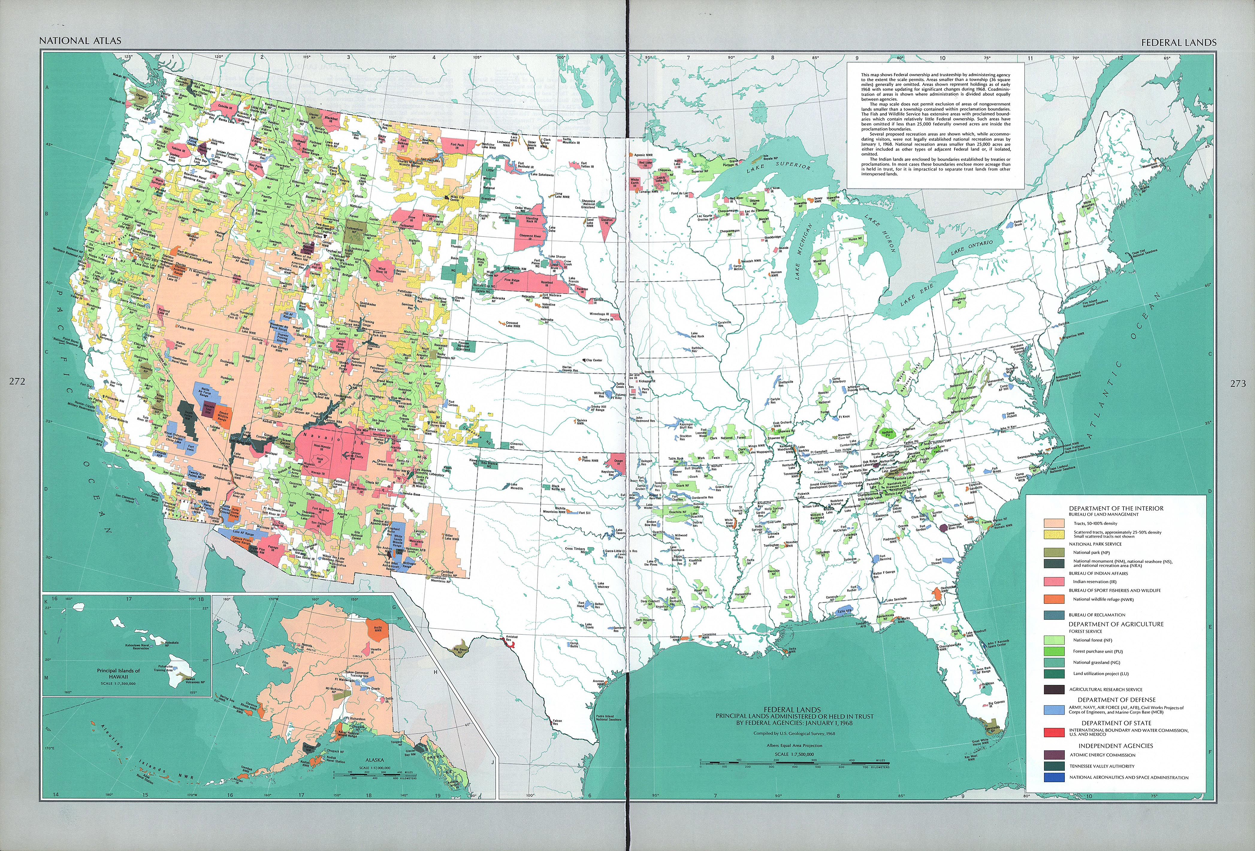 Who Owns The West Federal Land As Percentage Of Total State Land - Map of us with federal land shaded
