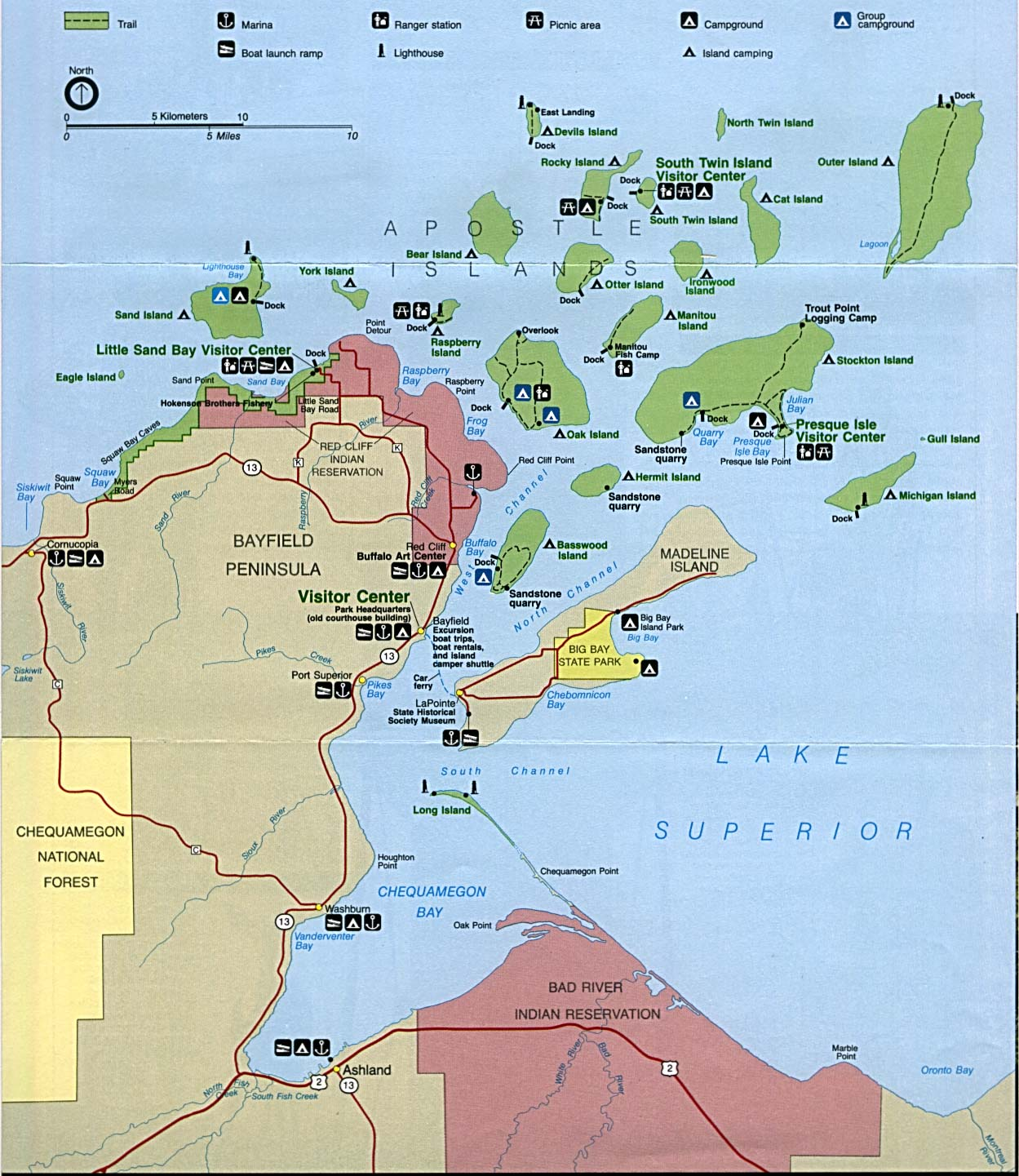 Apostle Islands Trail Map