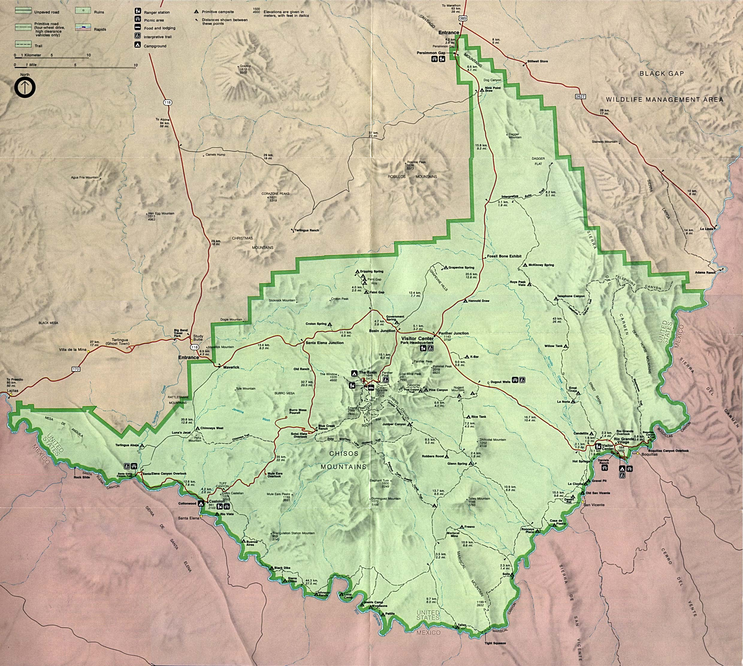 Texas State and National Park Maps Perry Casta±eda Map