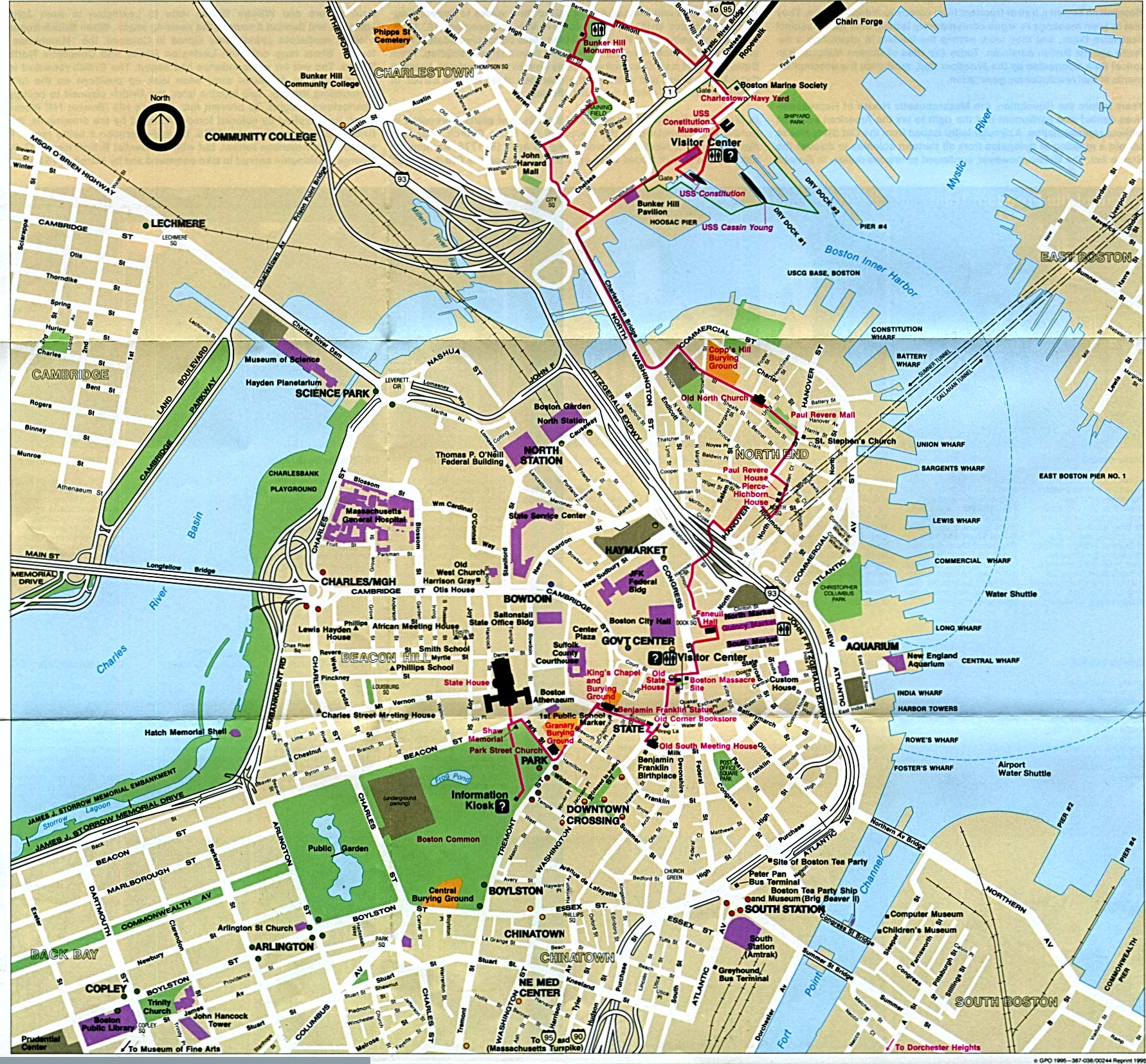 MAP OF BOSTON | Dictionary Bank