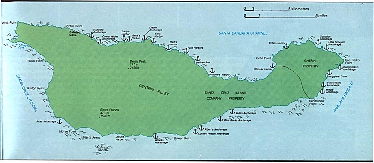 Channel Islands National Park Santa Cruz Island California