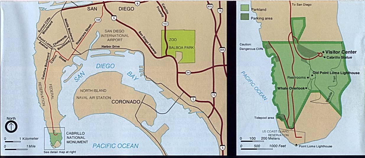 cabrillo national monument california area map