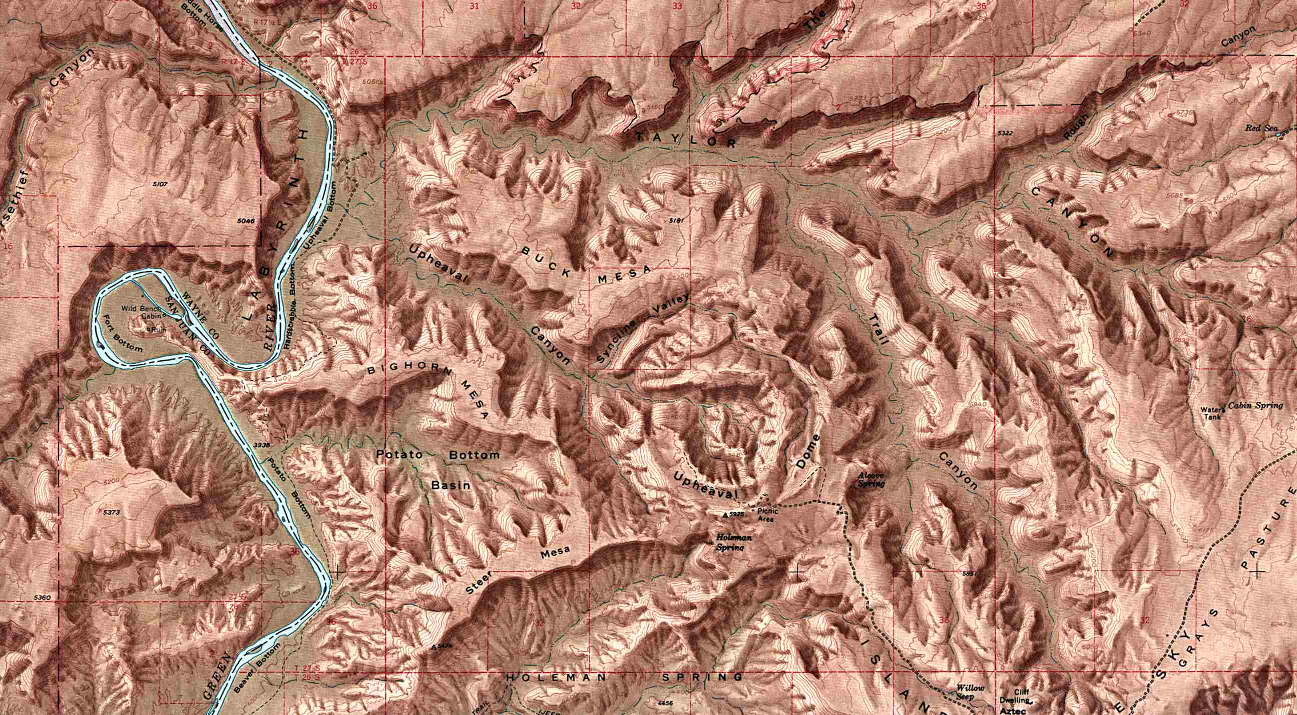 Maps of National and State Parks Monuments