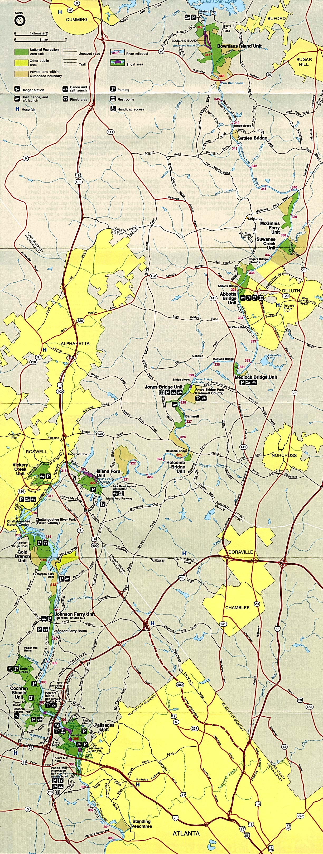 Georgia Maps PerryCastañeda Map Collection UT Library Online - Georgia map chattahoochee river