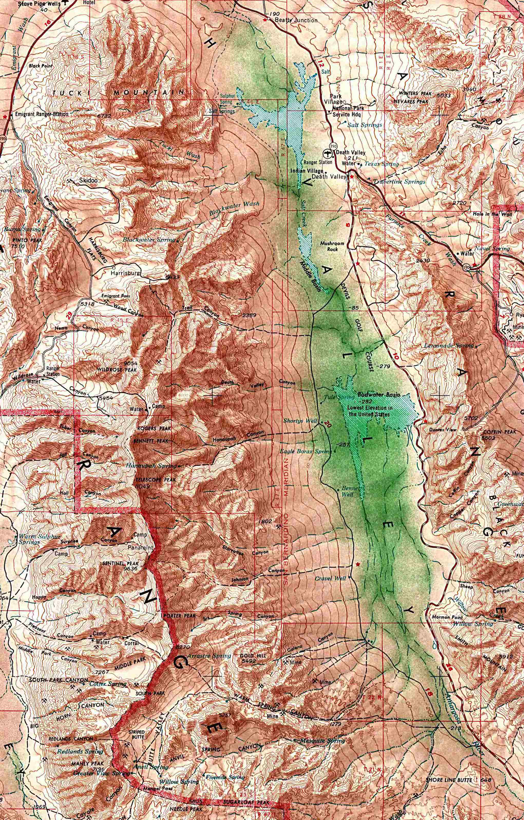 California Maps PerryCastañeda Map Collection UT Library Online - Us map topography