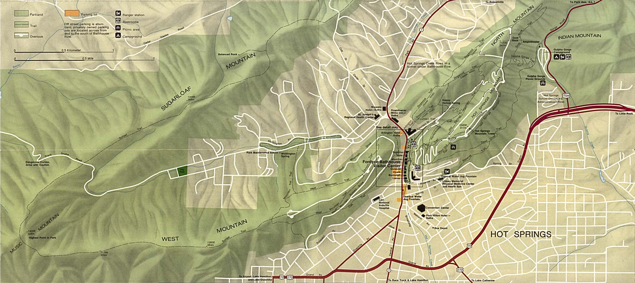 Arkansas Maps PerryCastañeda Map Collection UT Library Online - Us hot springs map