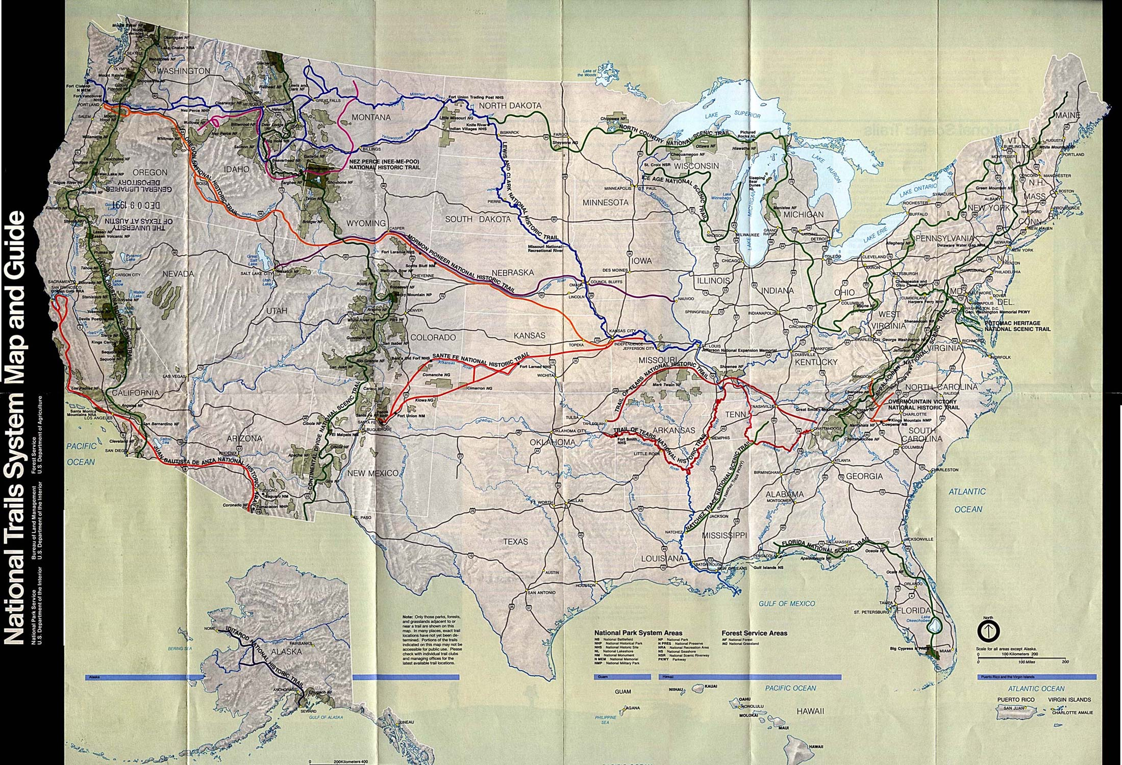 Us Map National Parks