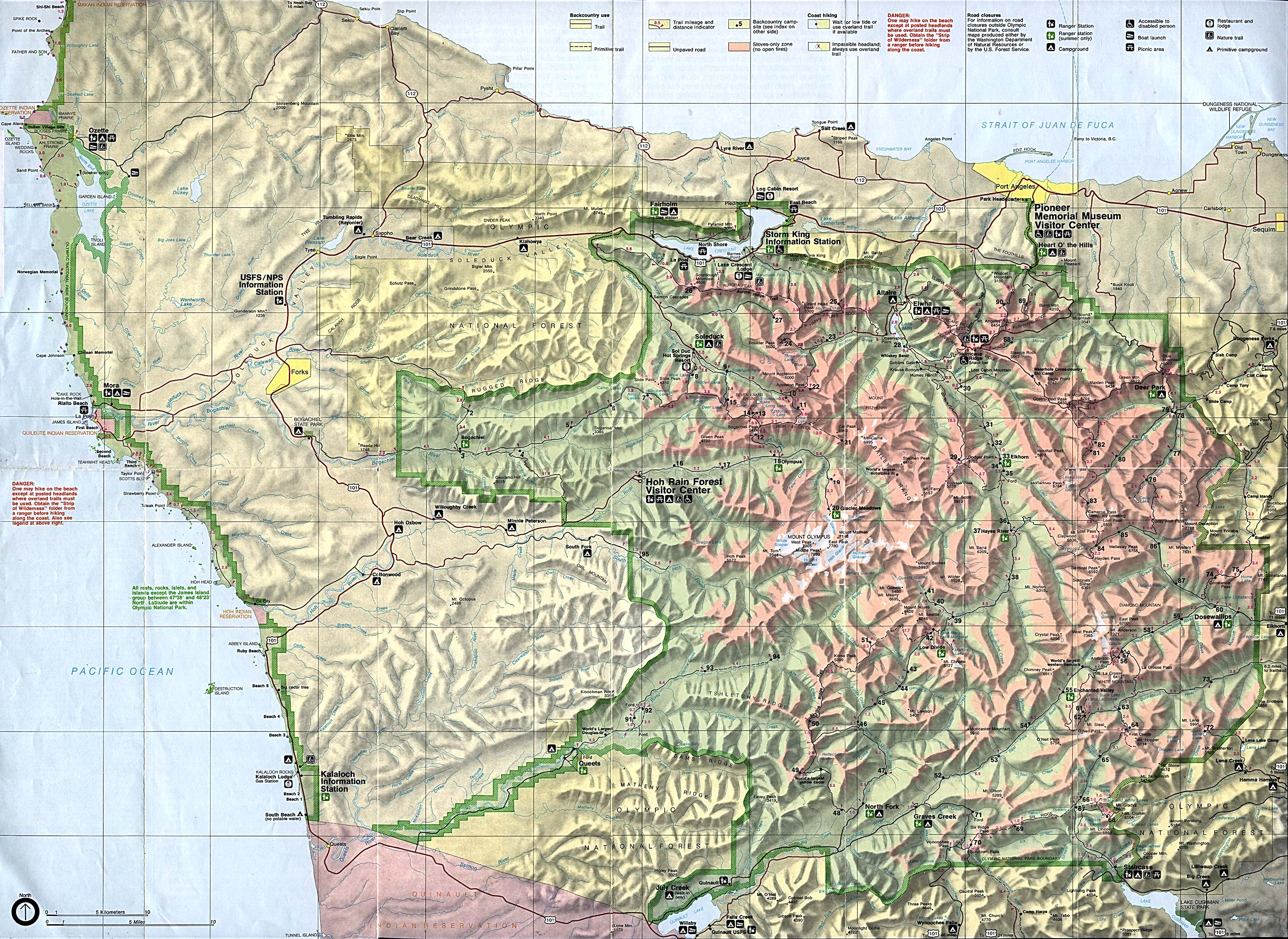 National Parks In Washington State Map.Washington Maps Perry Castaneda Map Collection Ut Library Online