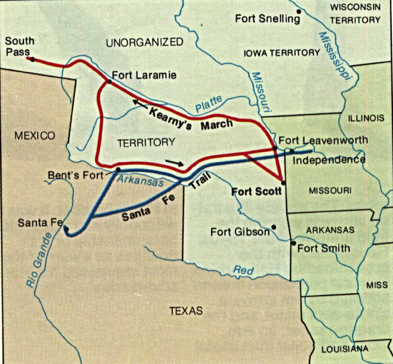Maps of United States National Parks, Monuments and Historic Sites Fort Scott National Historic Site [Kansas] (Battle Route Map) 1993 (187K)