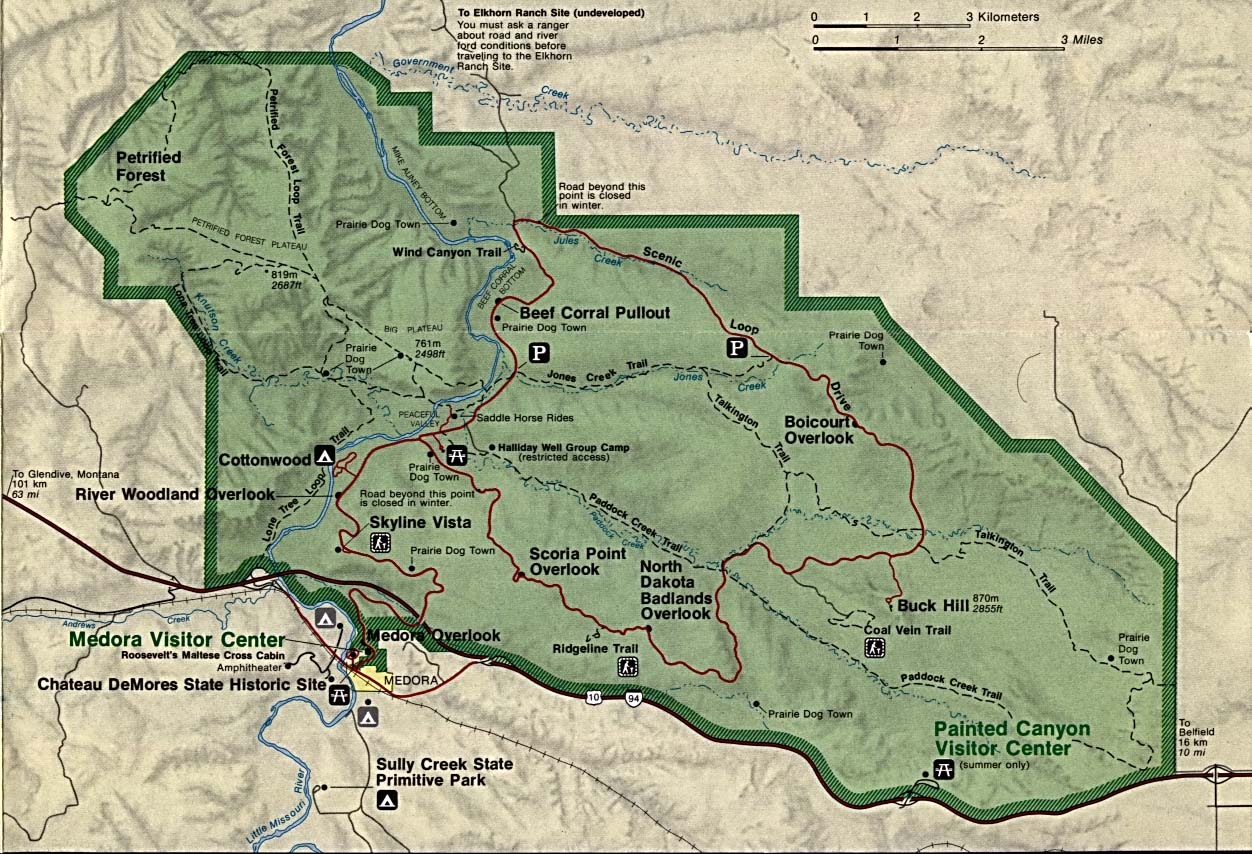maps of national parks monuments and historic sites