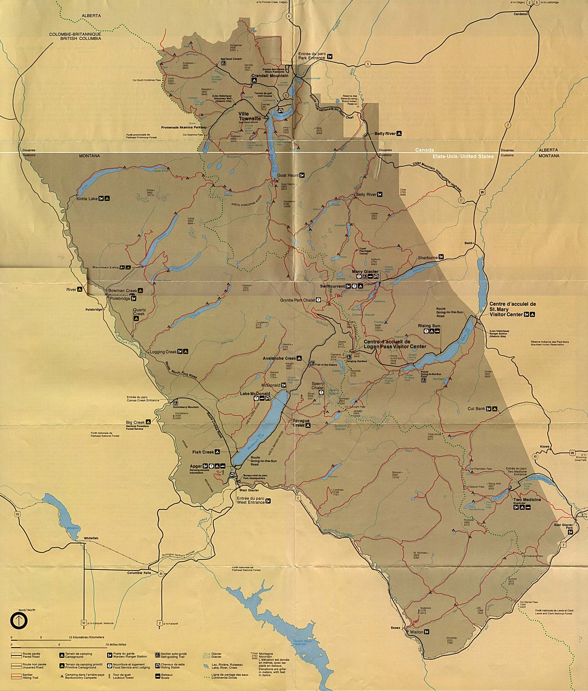 1up travel maps of united states us national parks monuments maps of united states national parks monuments and historic sites waterton glacier international peace gumiabroncs Gallery