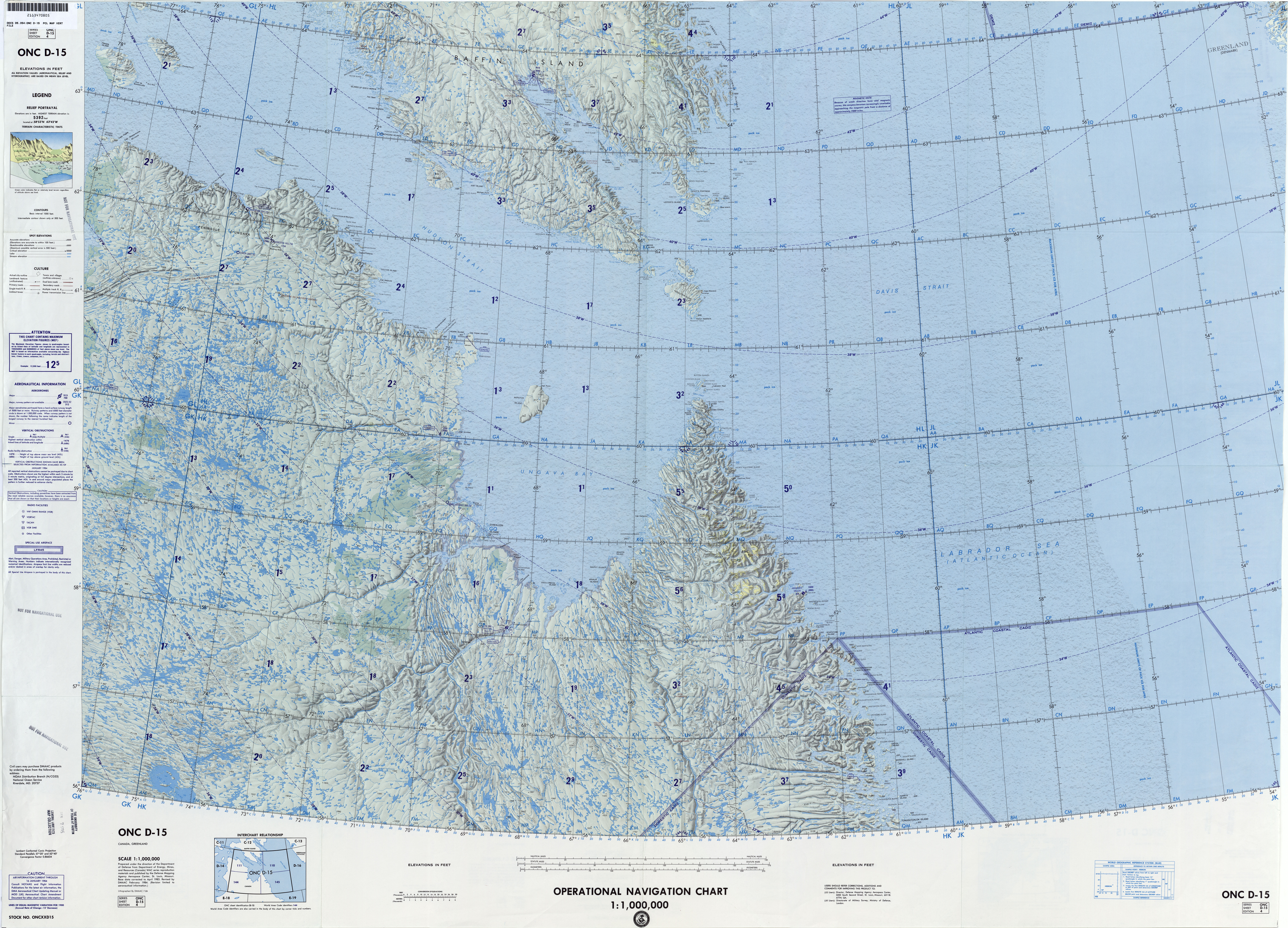 Greenland Not For Navigational Use U S Defense Mapping Agency Aeroe Center Base Data Corrected 1983 Revised 1984 17 3mb