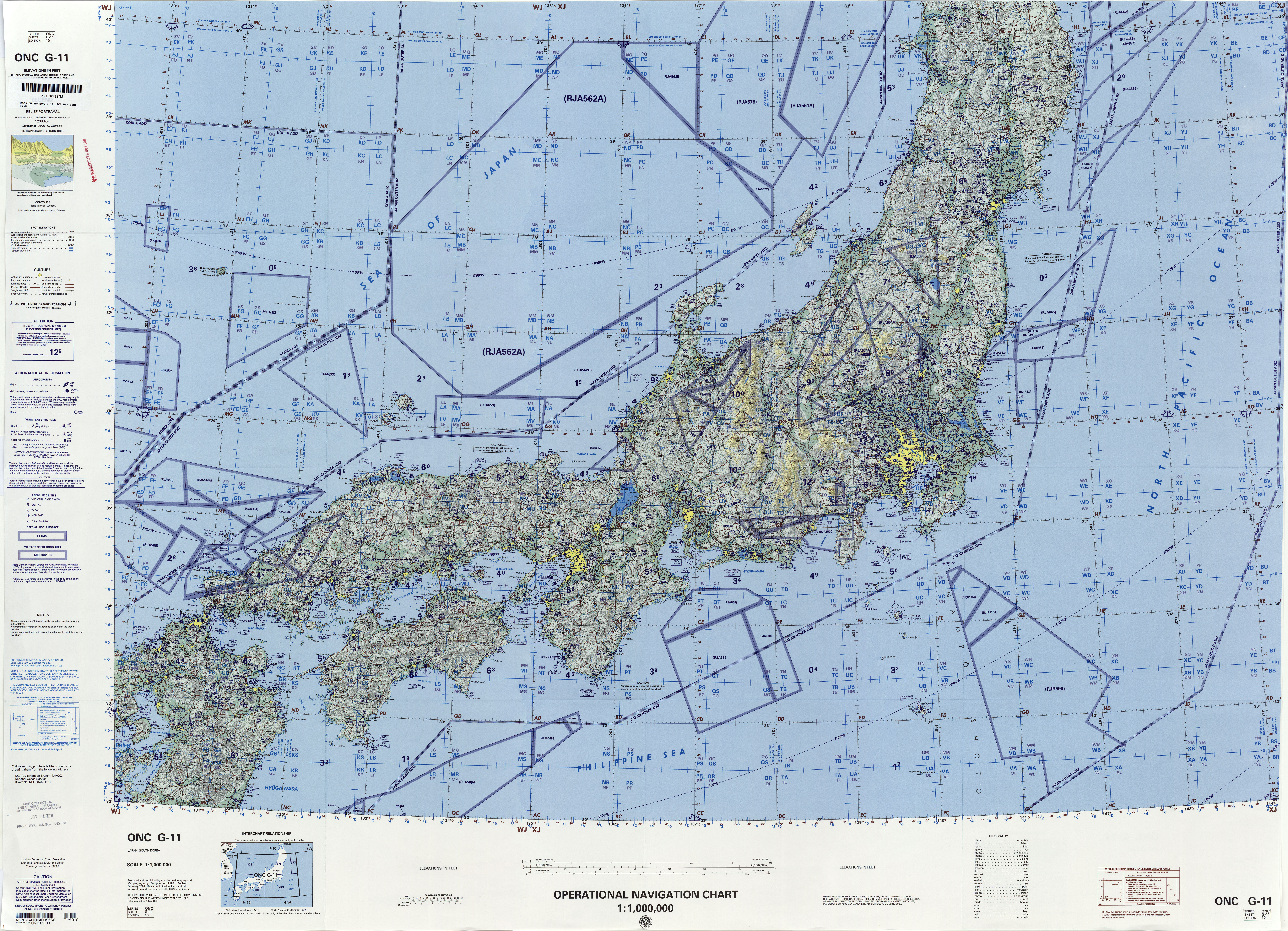 Operational navigation charts perry casta eda map collection ut
