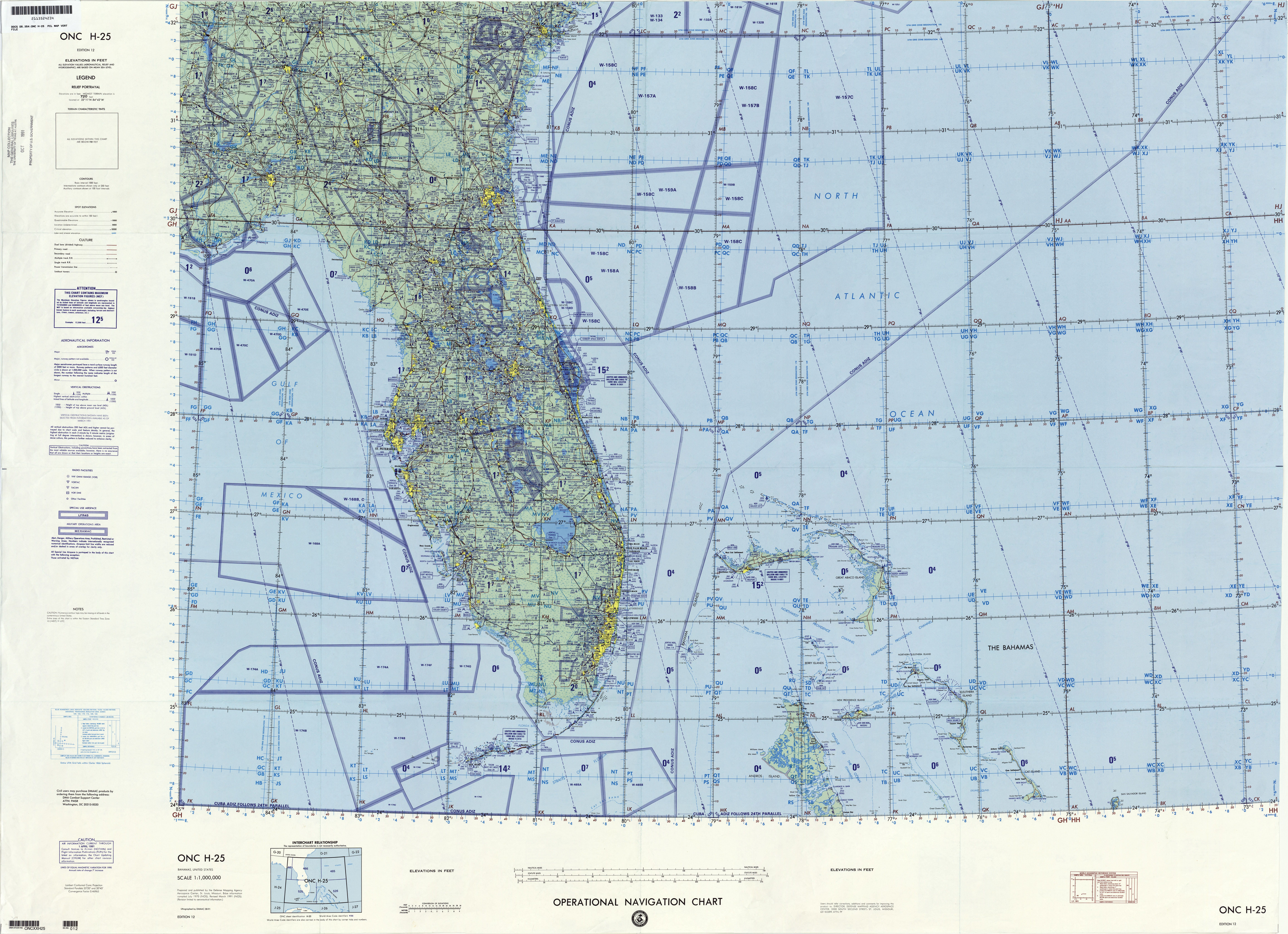 Latin America Operational Navigation Charts   Perry Castañeda Map
