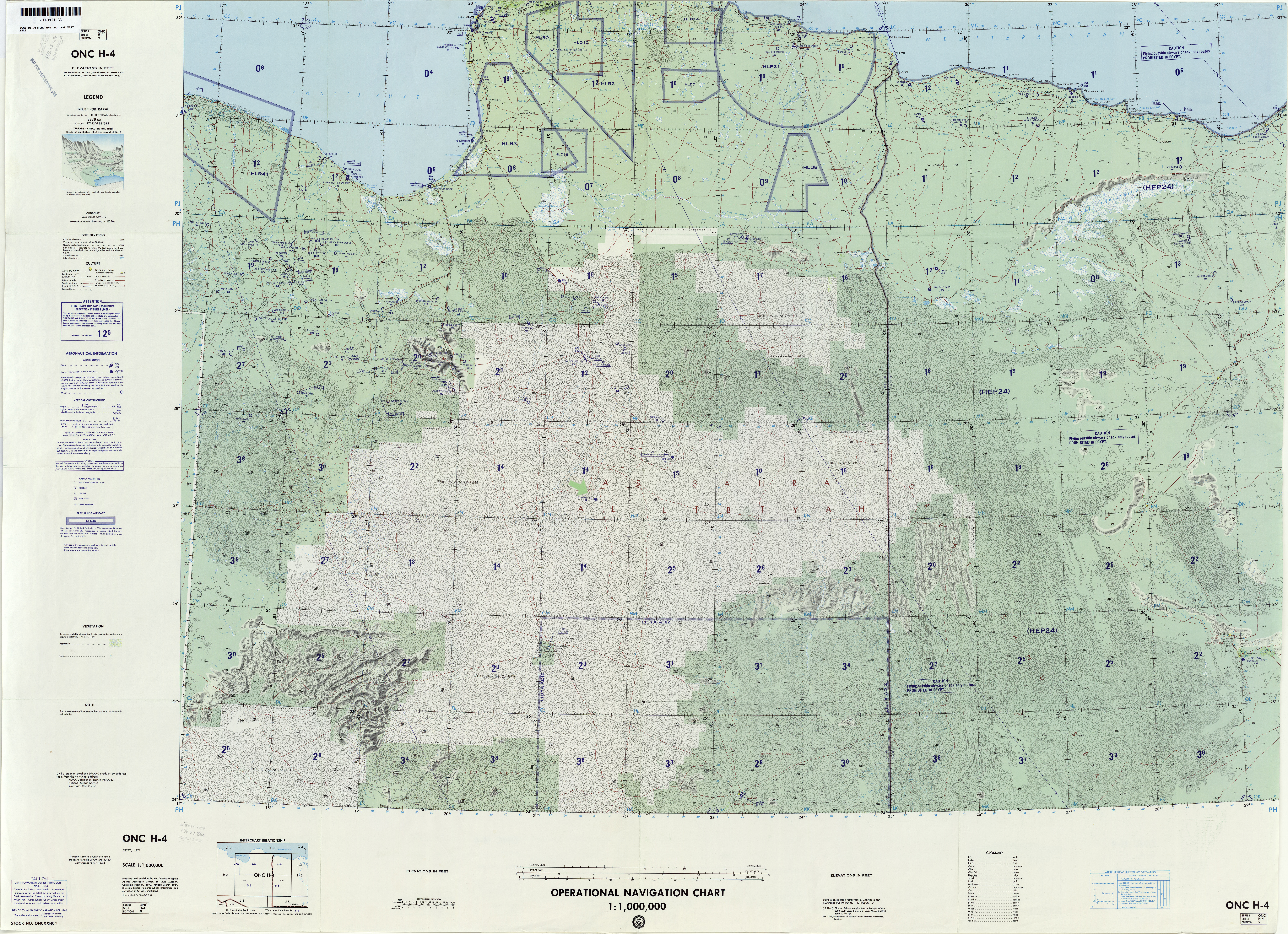 Algeria Libya Tunisia Not For Navigational Use U S Defense Mapping Agency Aeroe Center Compiled 1969 Revised 1984 19 2mb