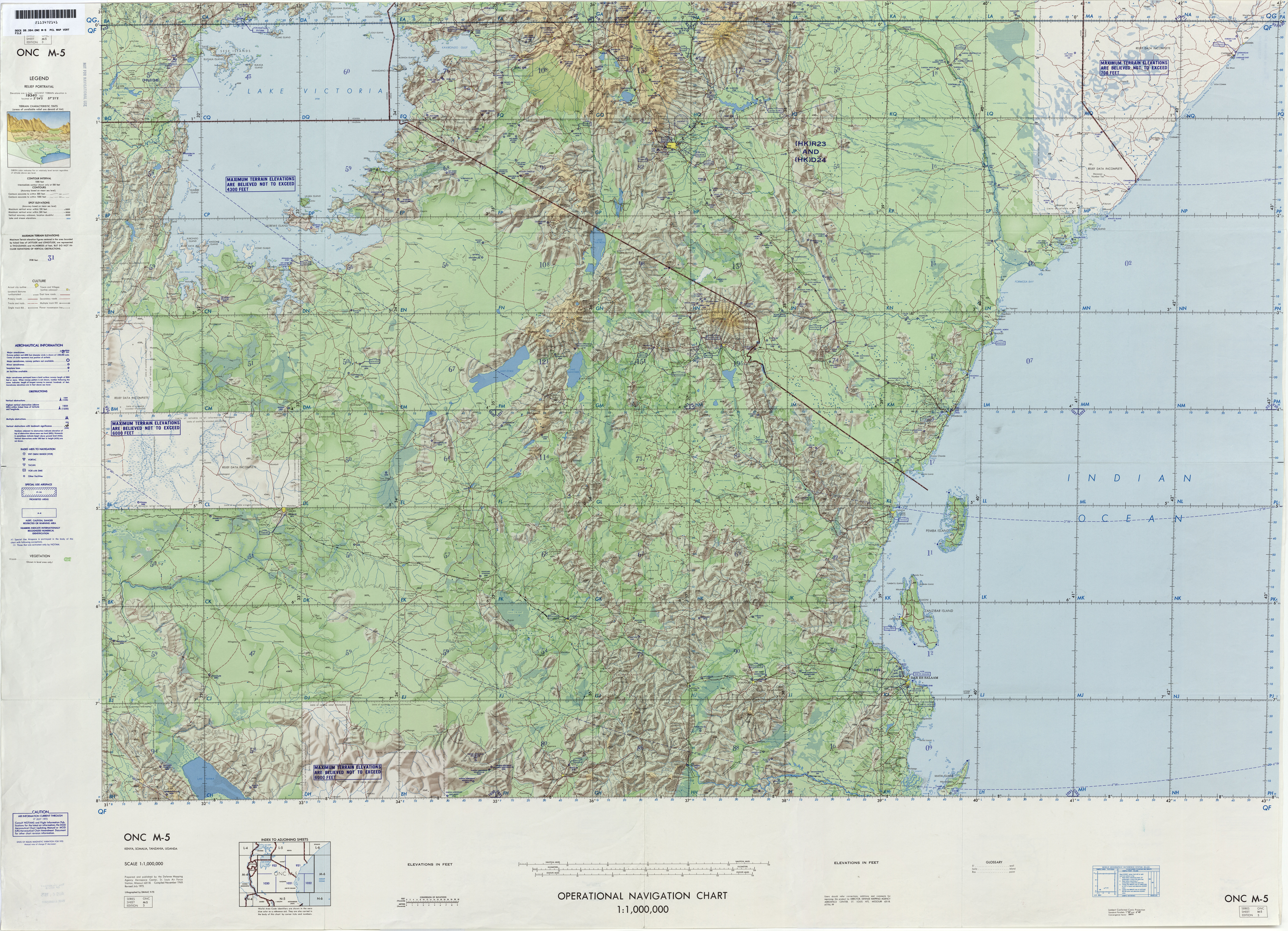 topographic map of kenya Kenya Maps Perry Castaneda Map Collection Ut Library Online