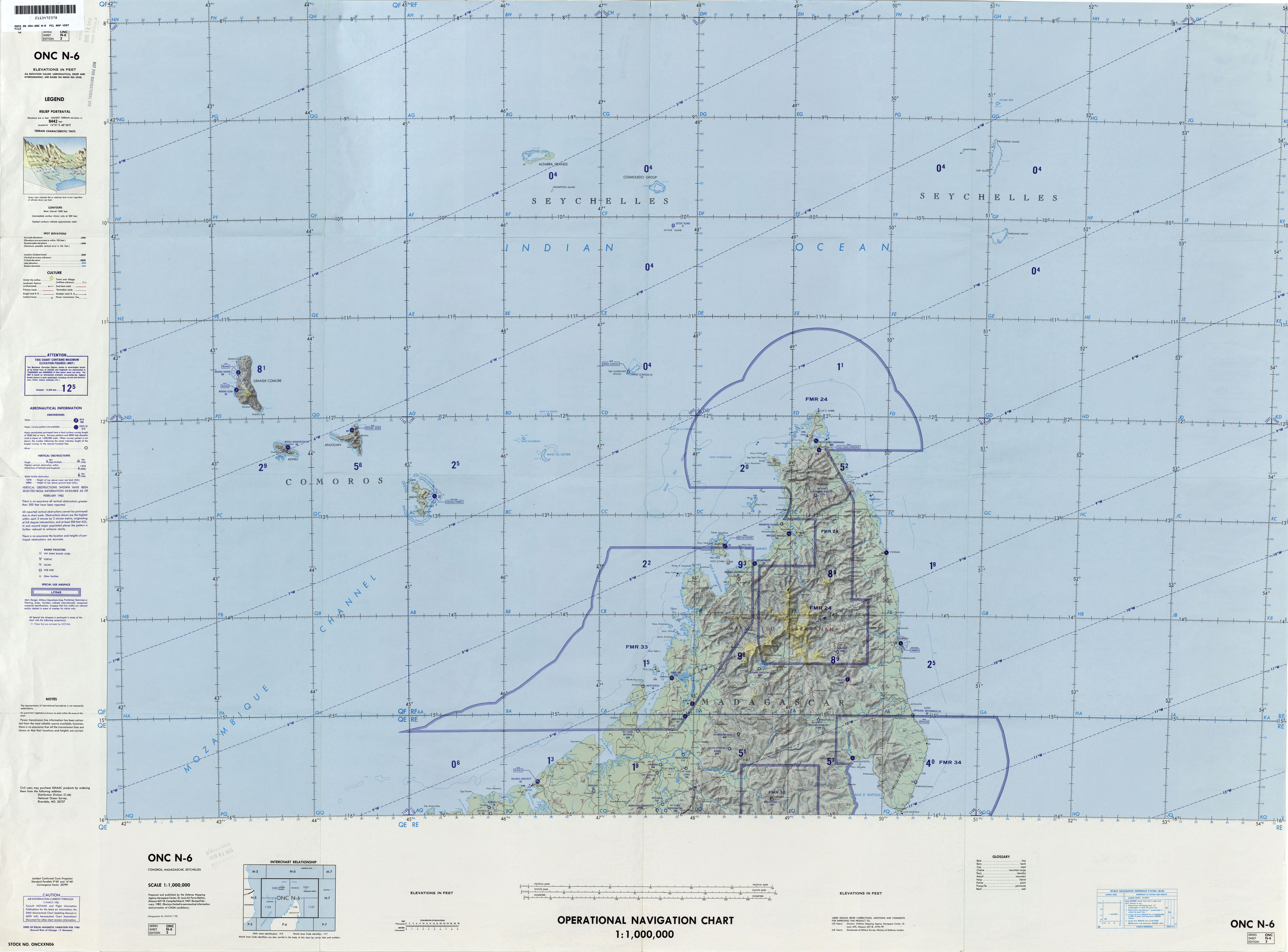 comoros operational navigation chart series