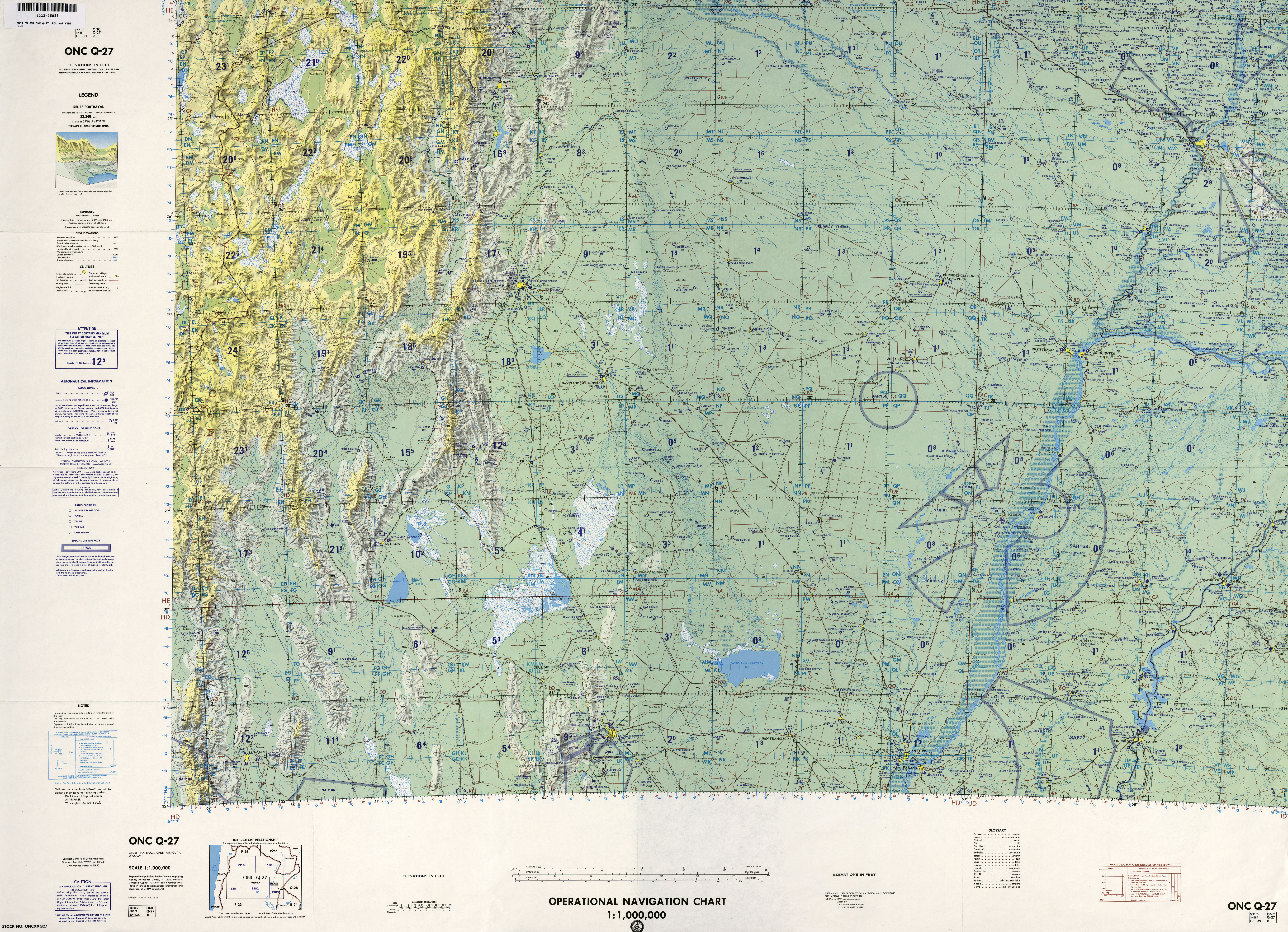 Latin America Operational Navigation Charts PerryCastañeda Map - Us map q