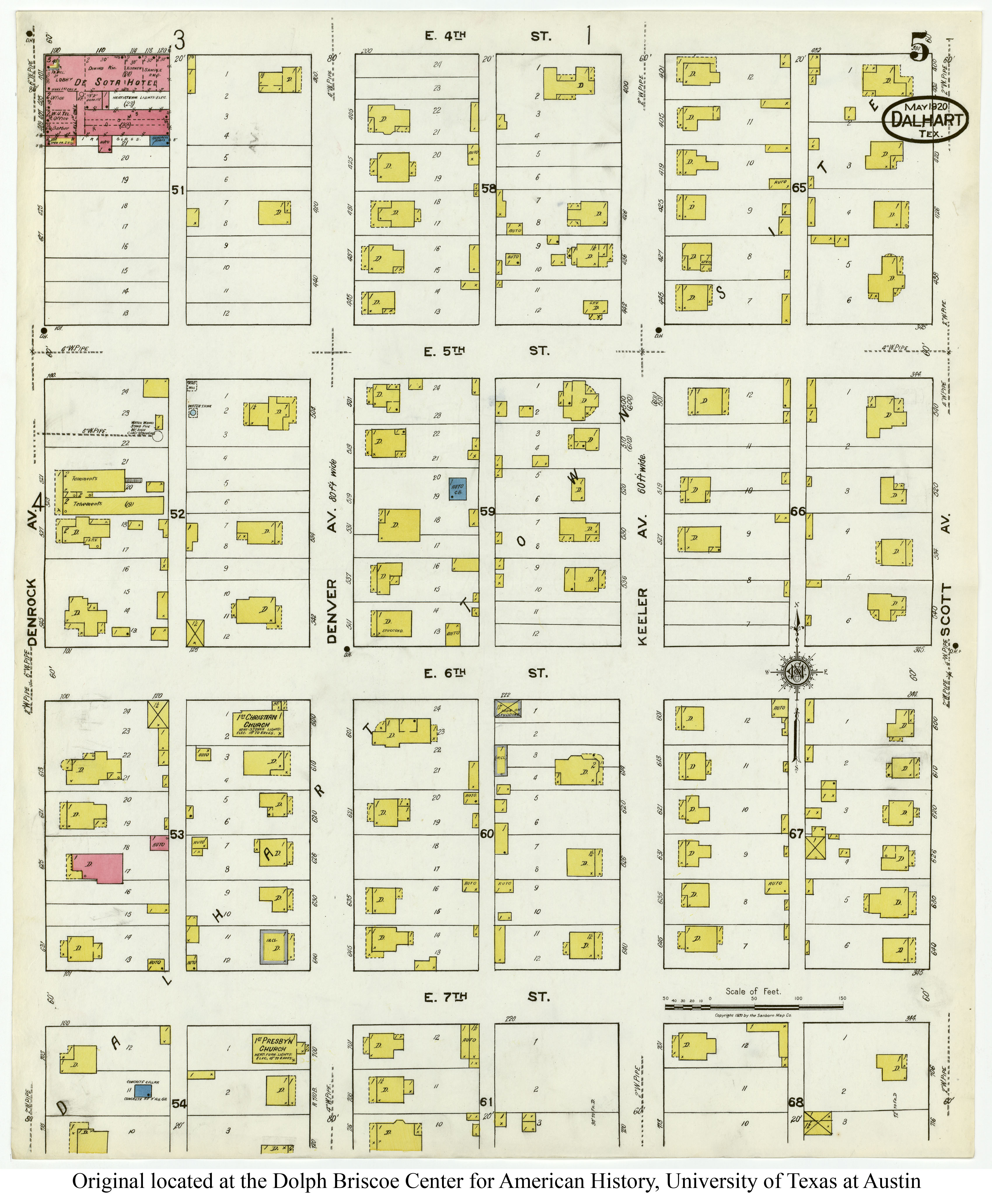Sanborn Fire Map.Sanborn Maps Of Texas Perry Castaneda Map Collection Ut Library