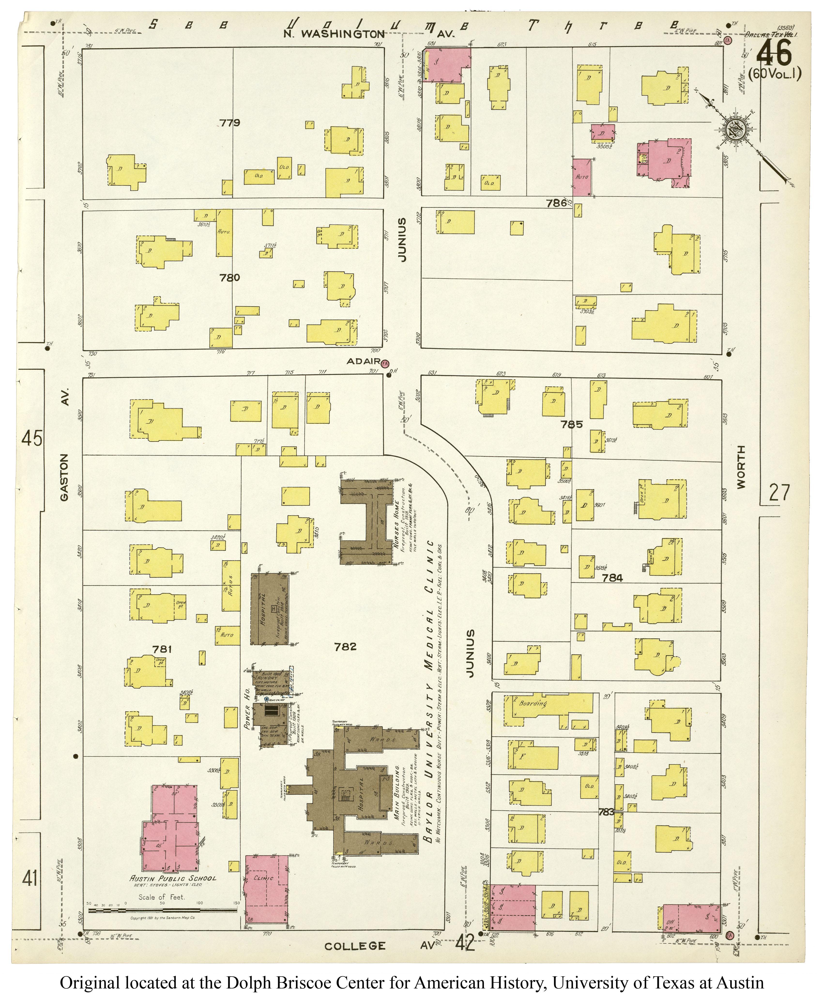 Baylor Hospital 1909 1921 Flashback Dallas