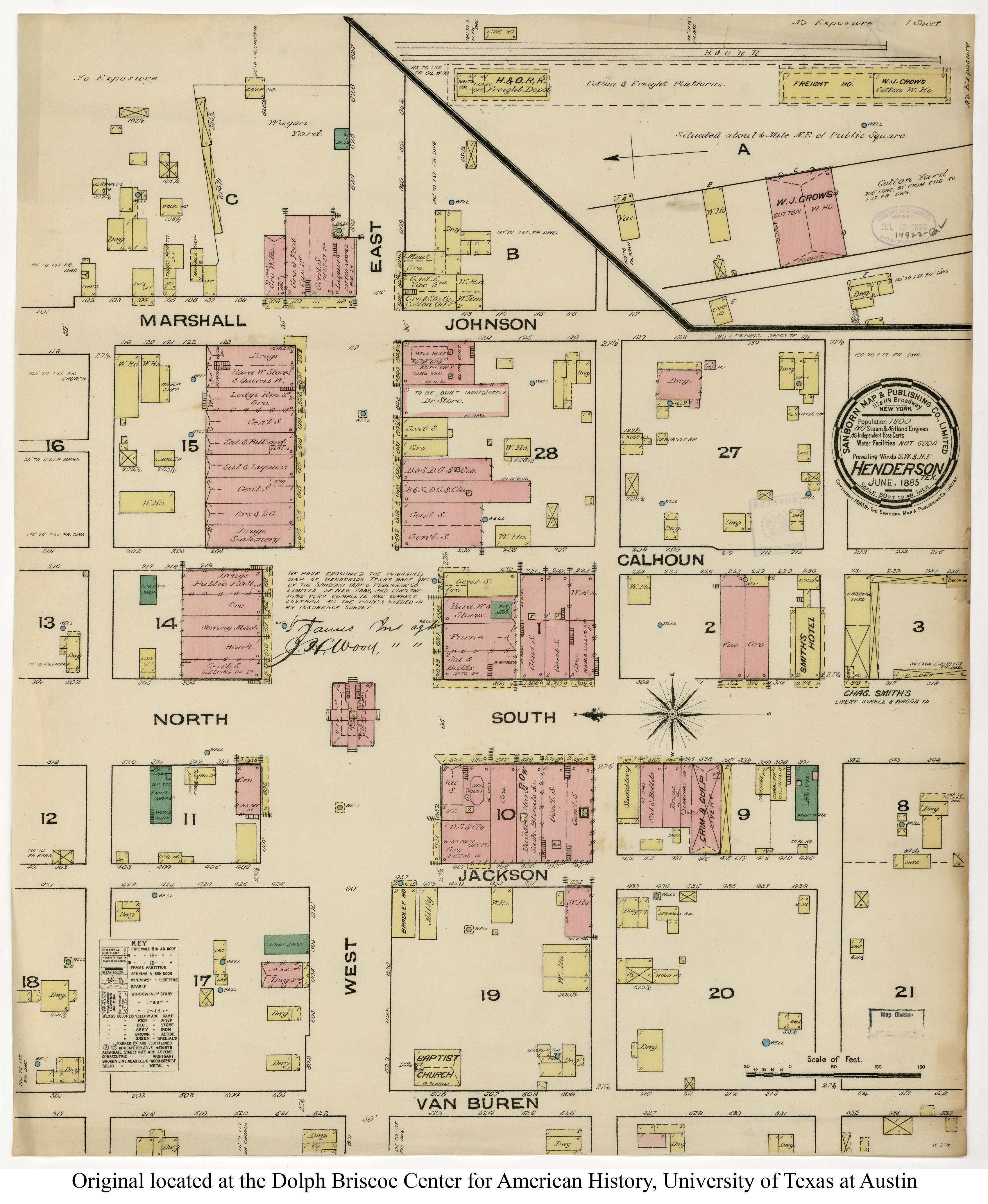 1885 Henderson Map