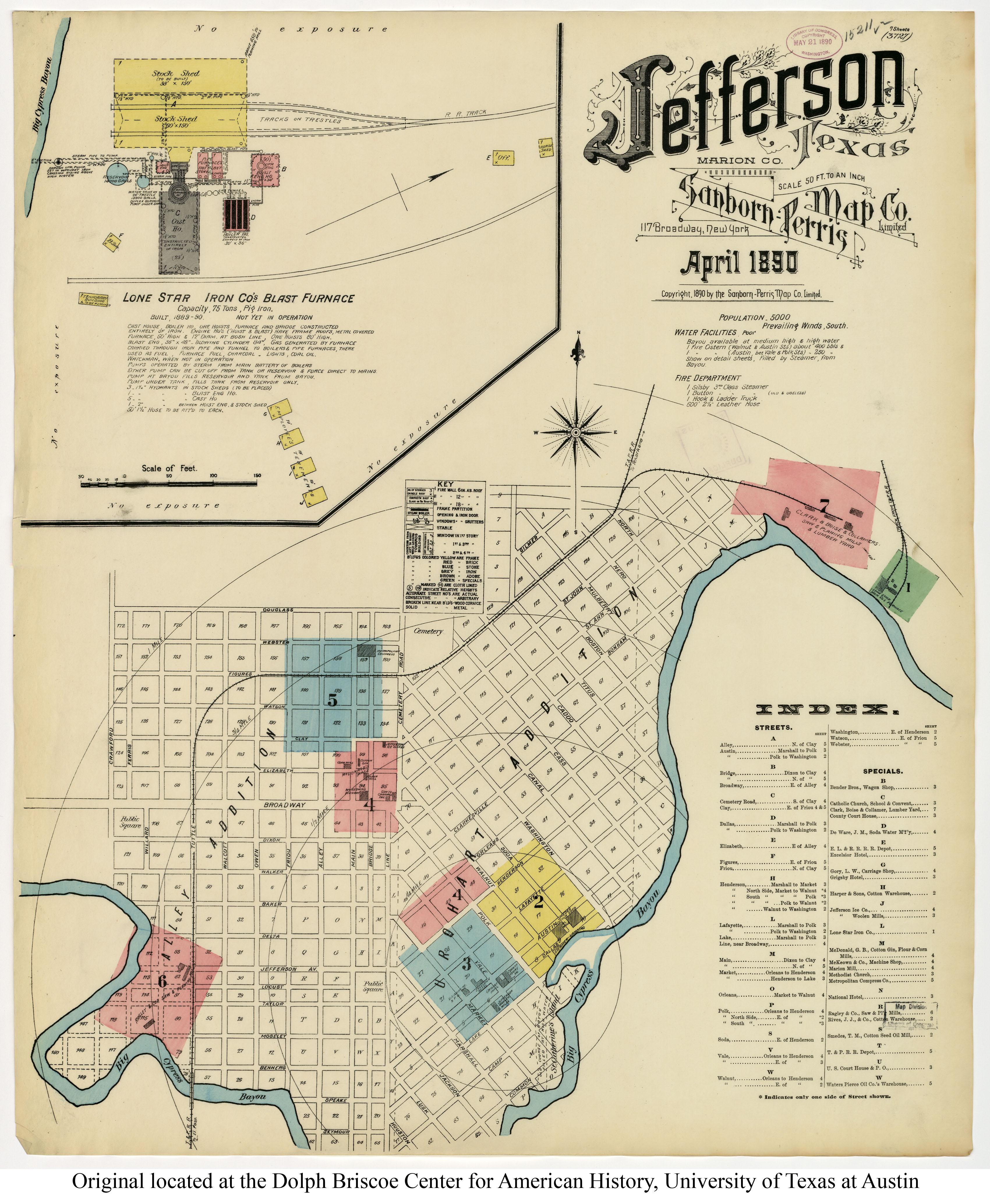 Map Of Jefferson Texas