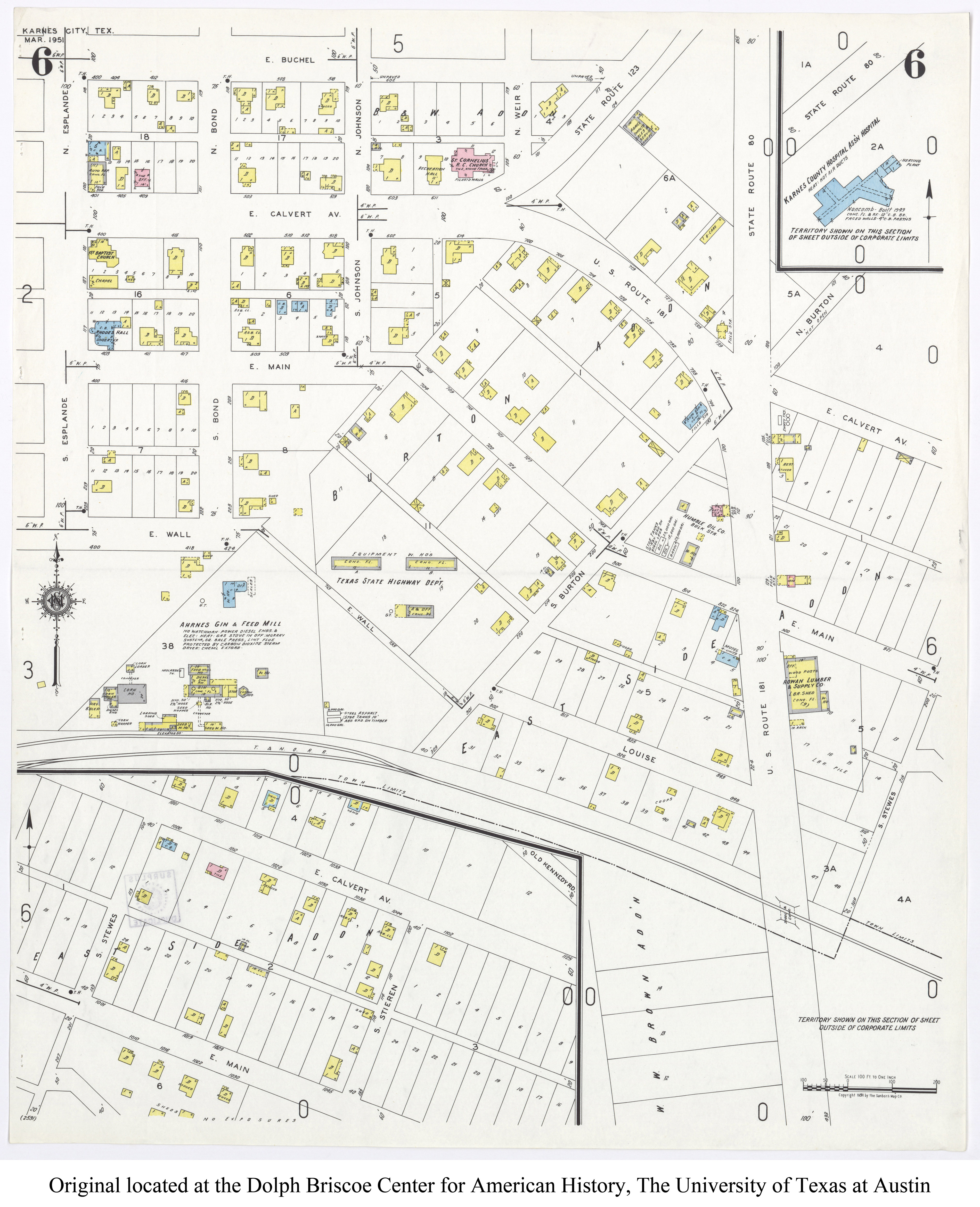 Sanborn Maps of Texas - Perry-Castañeda Map Collection - UT ... on map of dimmit county texas, cities in karnes county texas, political map of texas,
