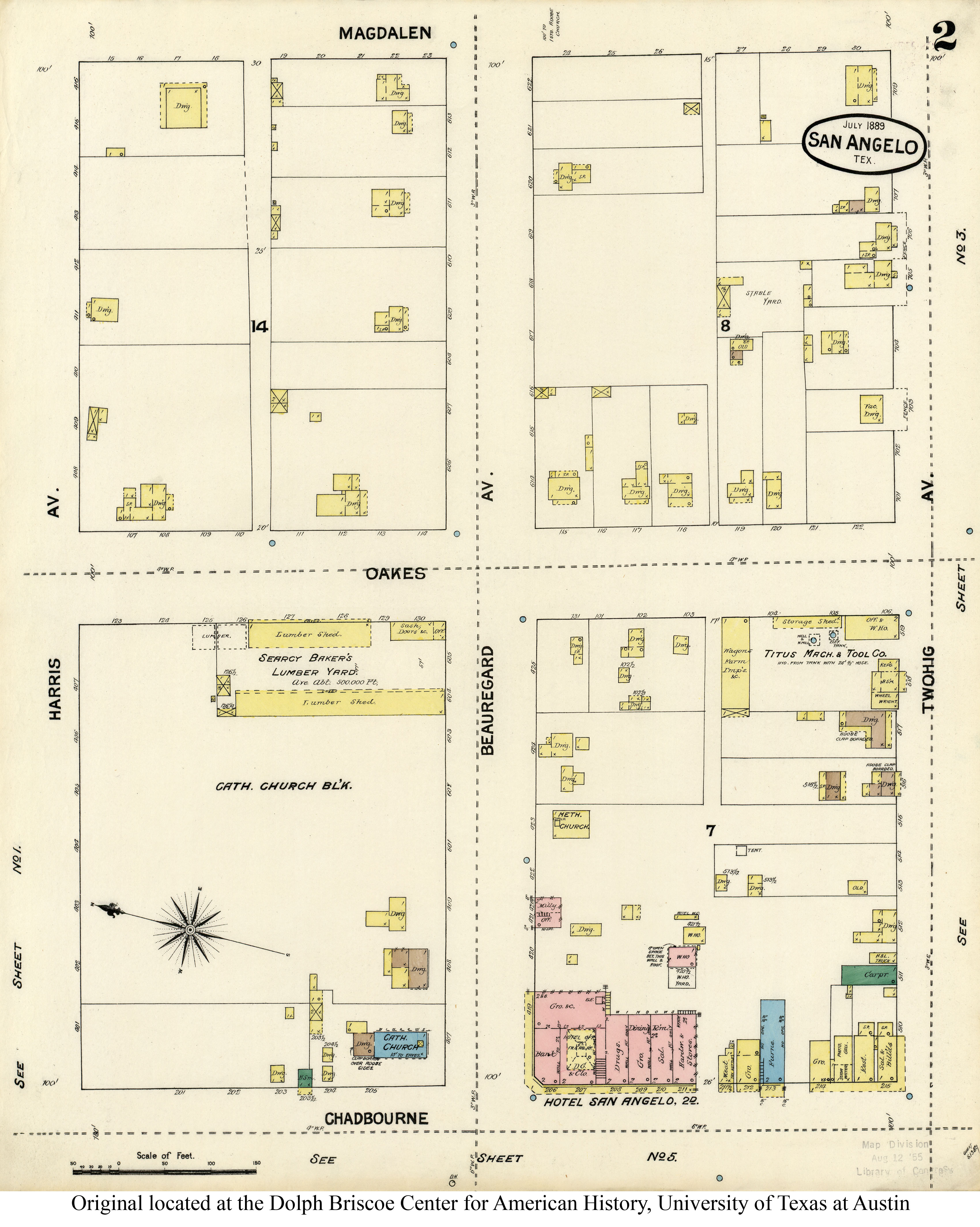 Sanborn Fire Insurance Maps Texas 1877 1922