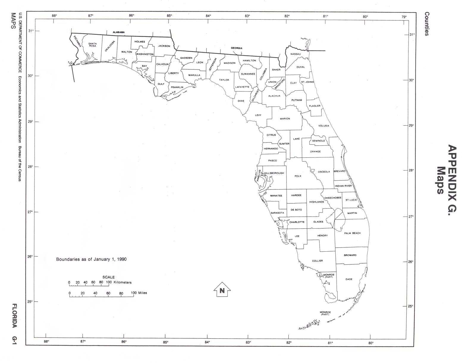 Florida Outline Maps And Map Links - Map of florida counties and cities