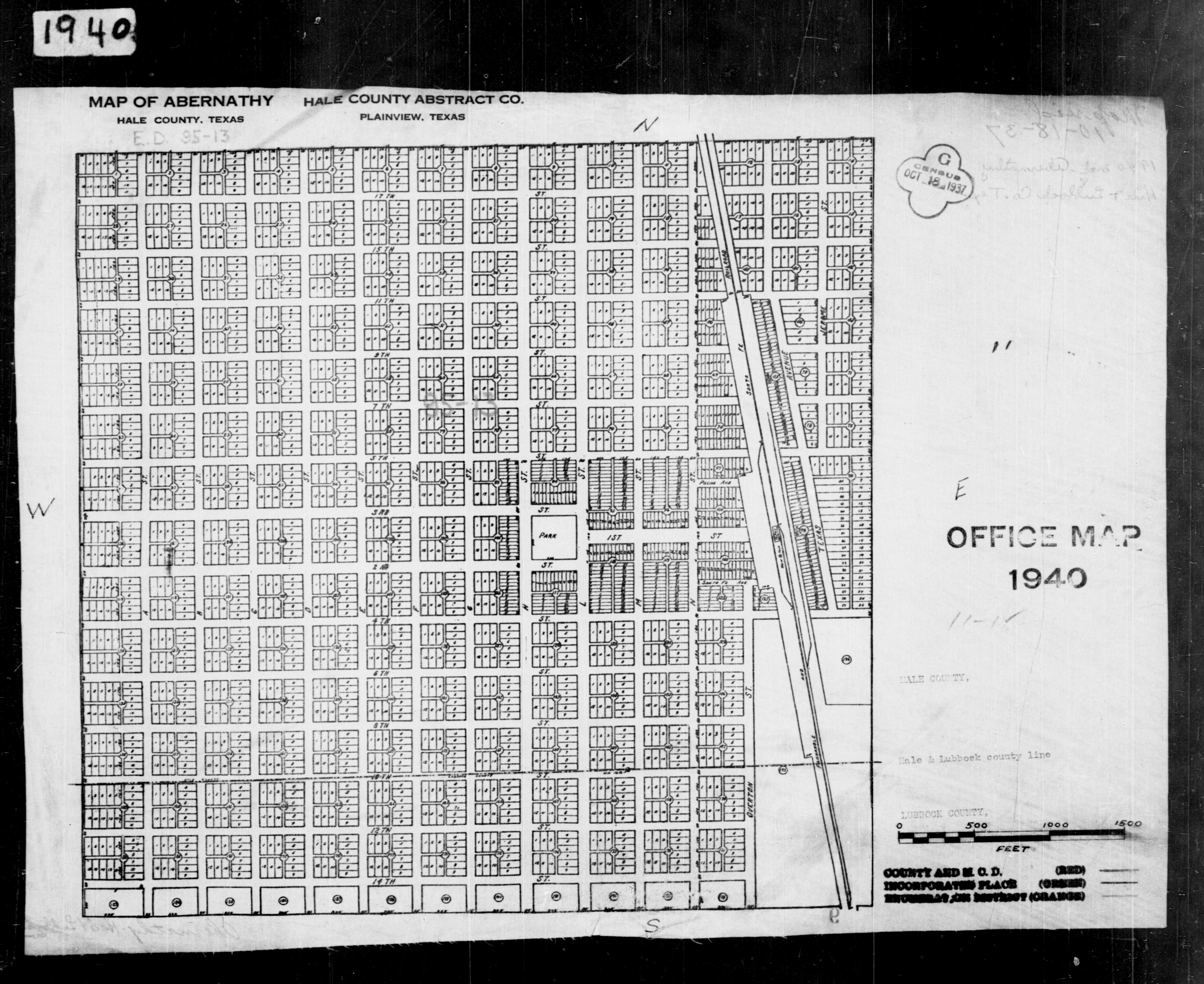 1940 Census Texas Enumeration District Maps - Perry-Castañeda Map ...