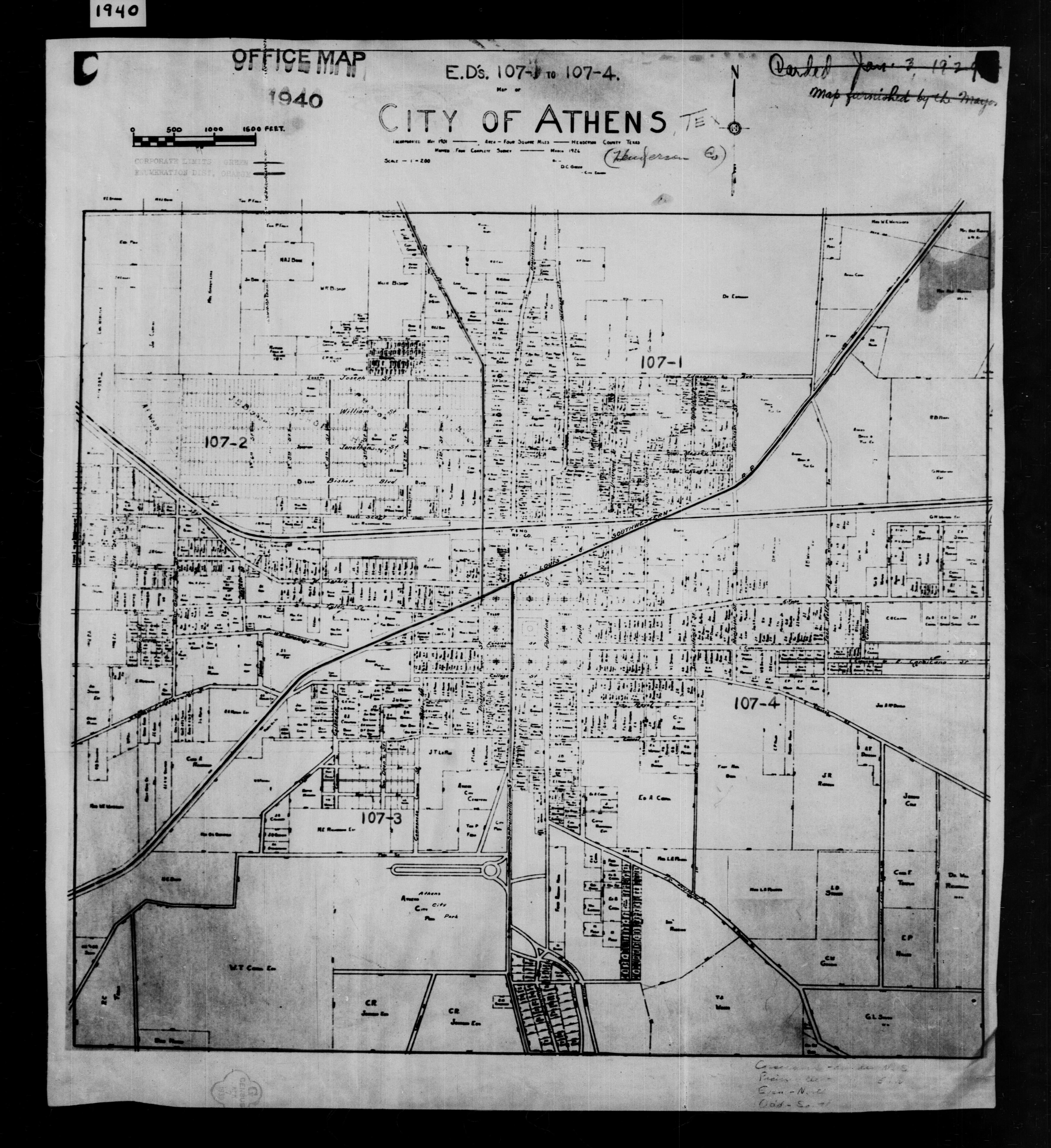 1940 Census Texas Enumeration District Maps - Perry-Castañeda Map on
