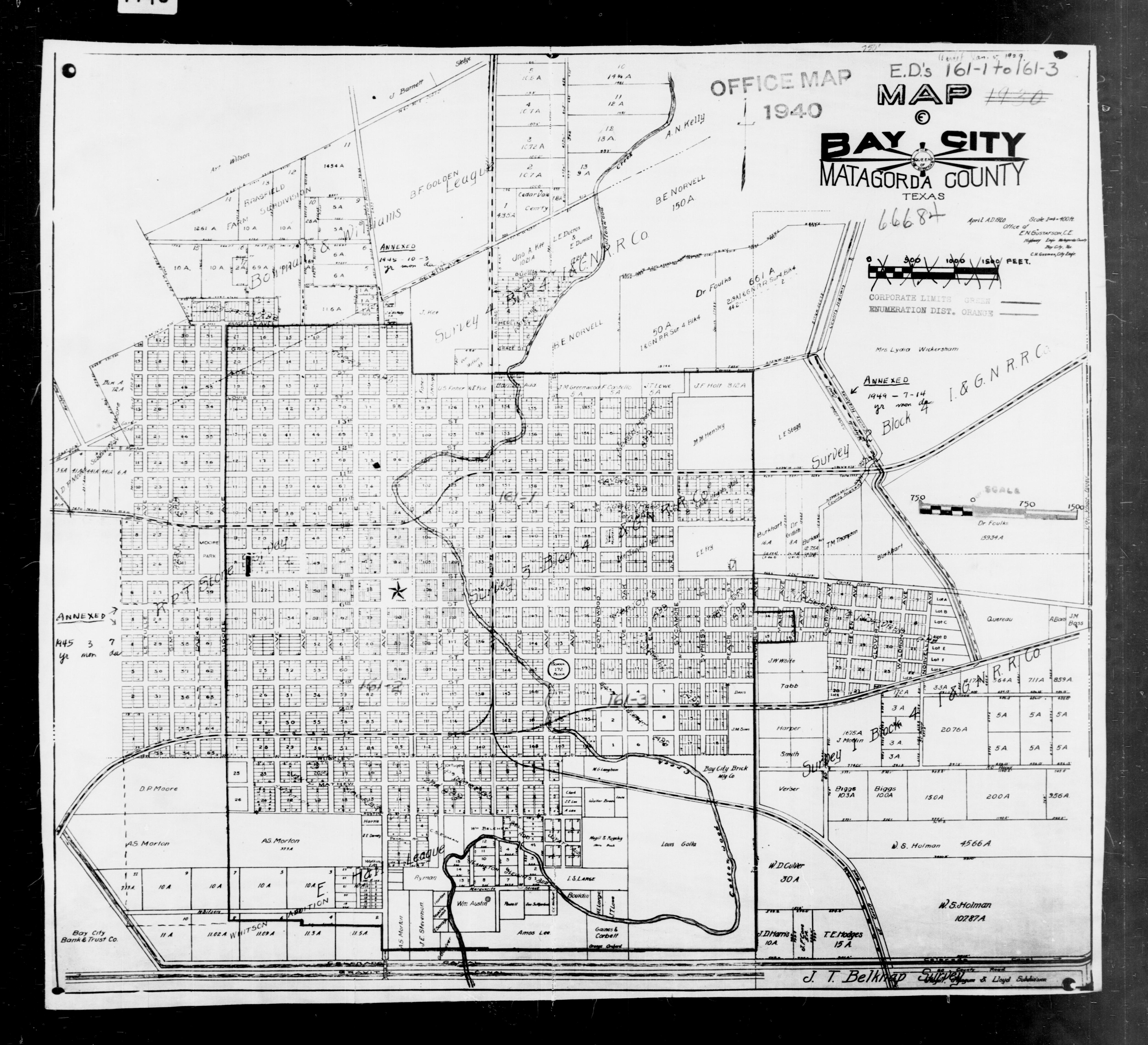 1940 Census Texas Enumeration District Maps PerryCastaeda Map