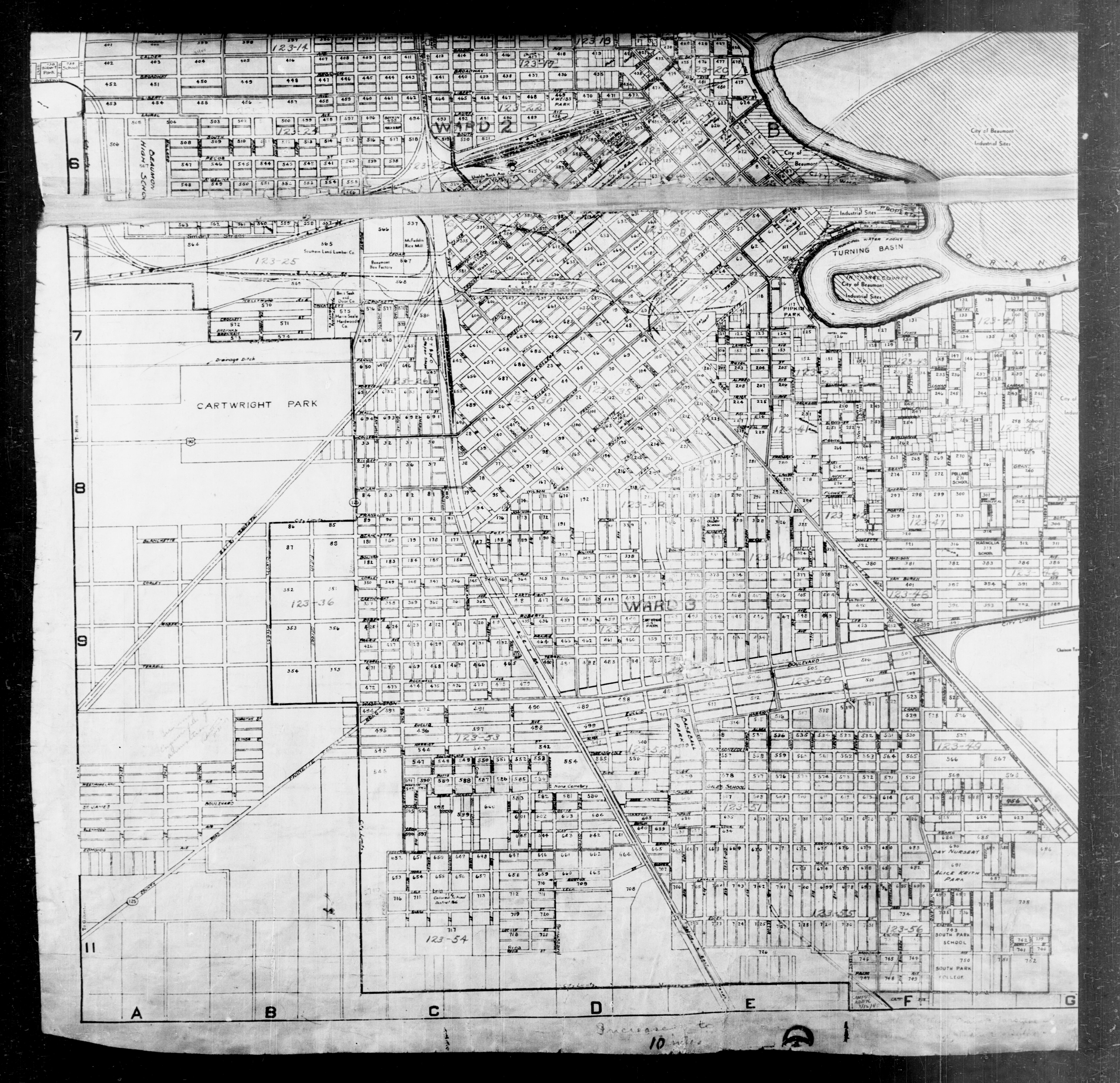 1940 Census Texas Enumeration District Maps Perry Castaeda Map