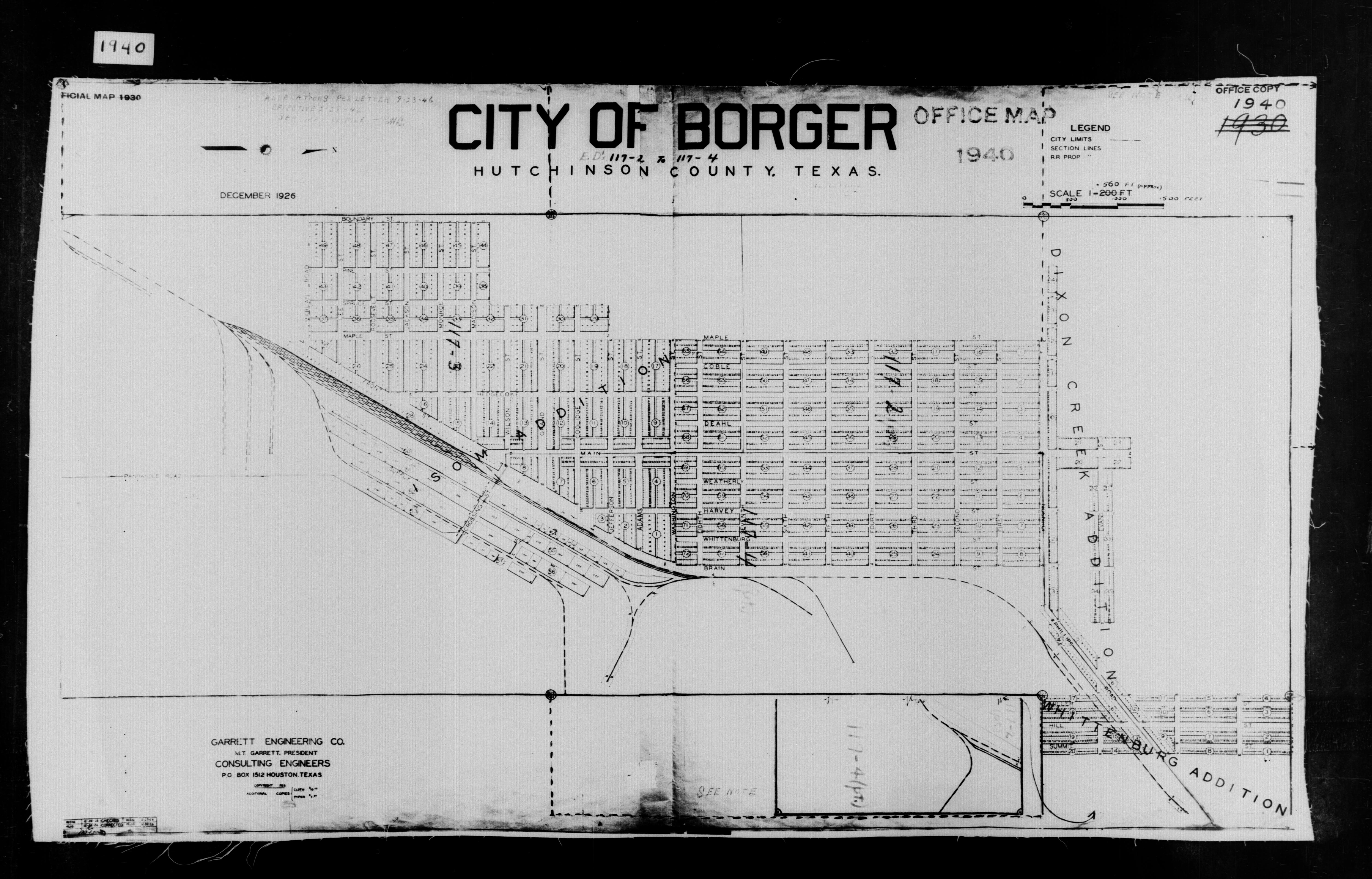 Map Of Texas House District 60.1940 Census Texas Enumeration District Maps Perry Castaneda Map