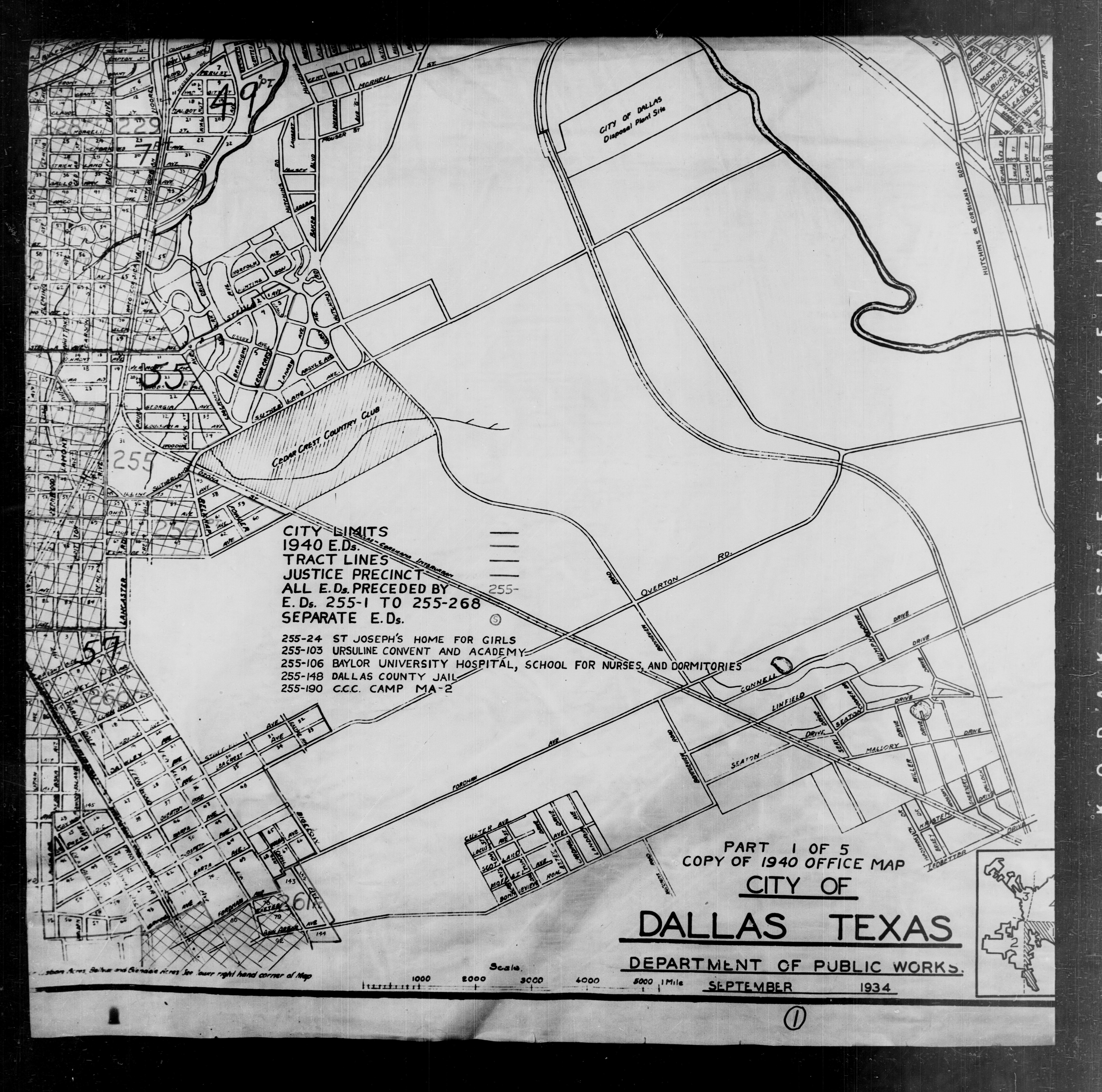 1940 Census Texas Enumeration District Maps Perry Castaneda Map