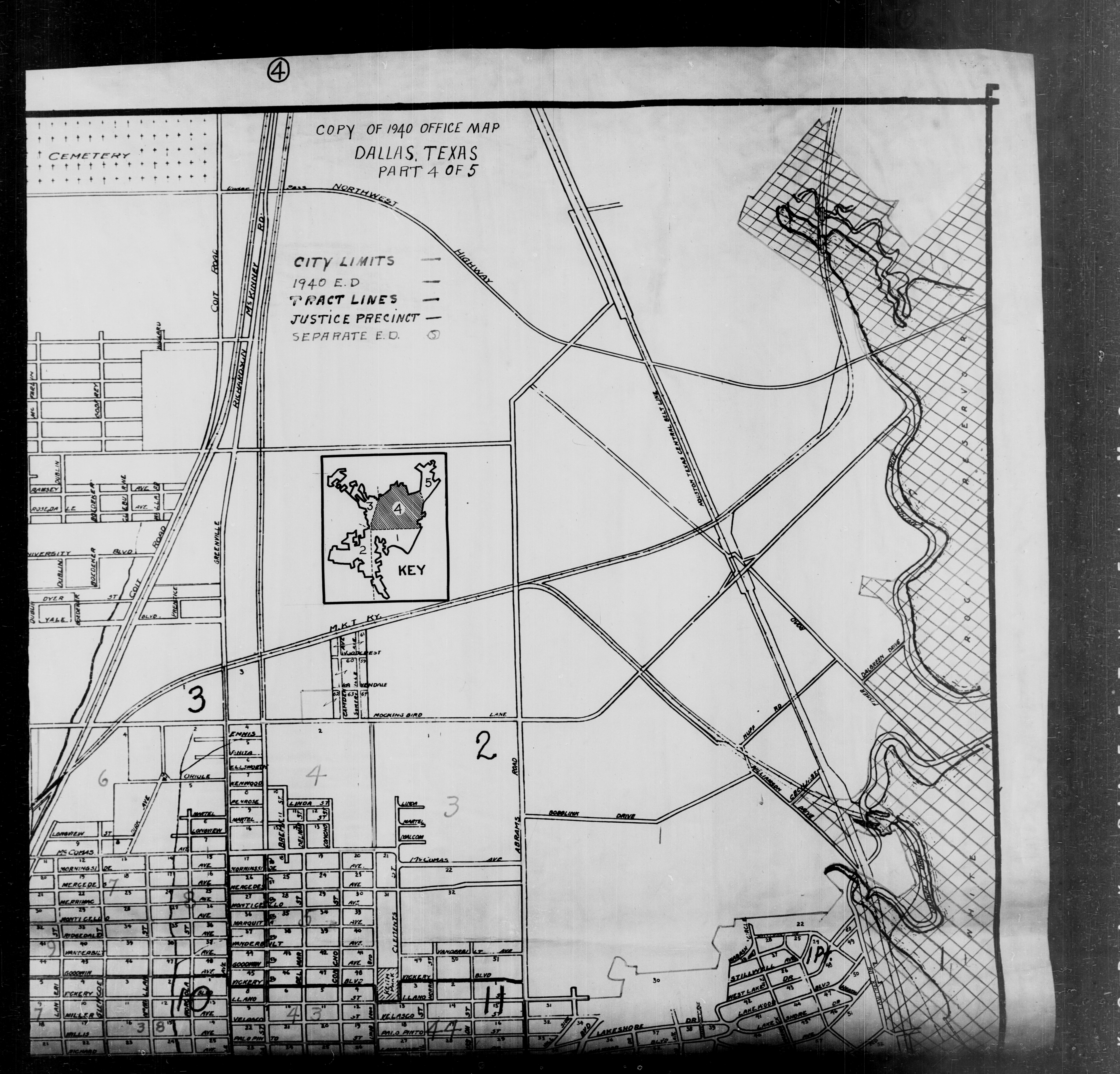1940 Census Texas Enumeration District Maps