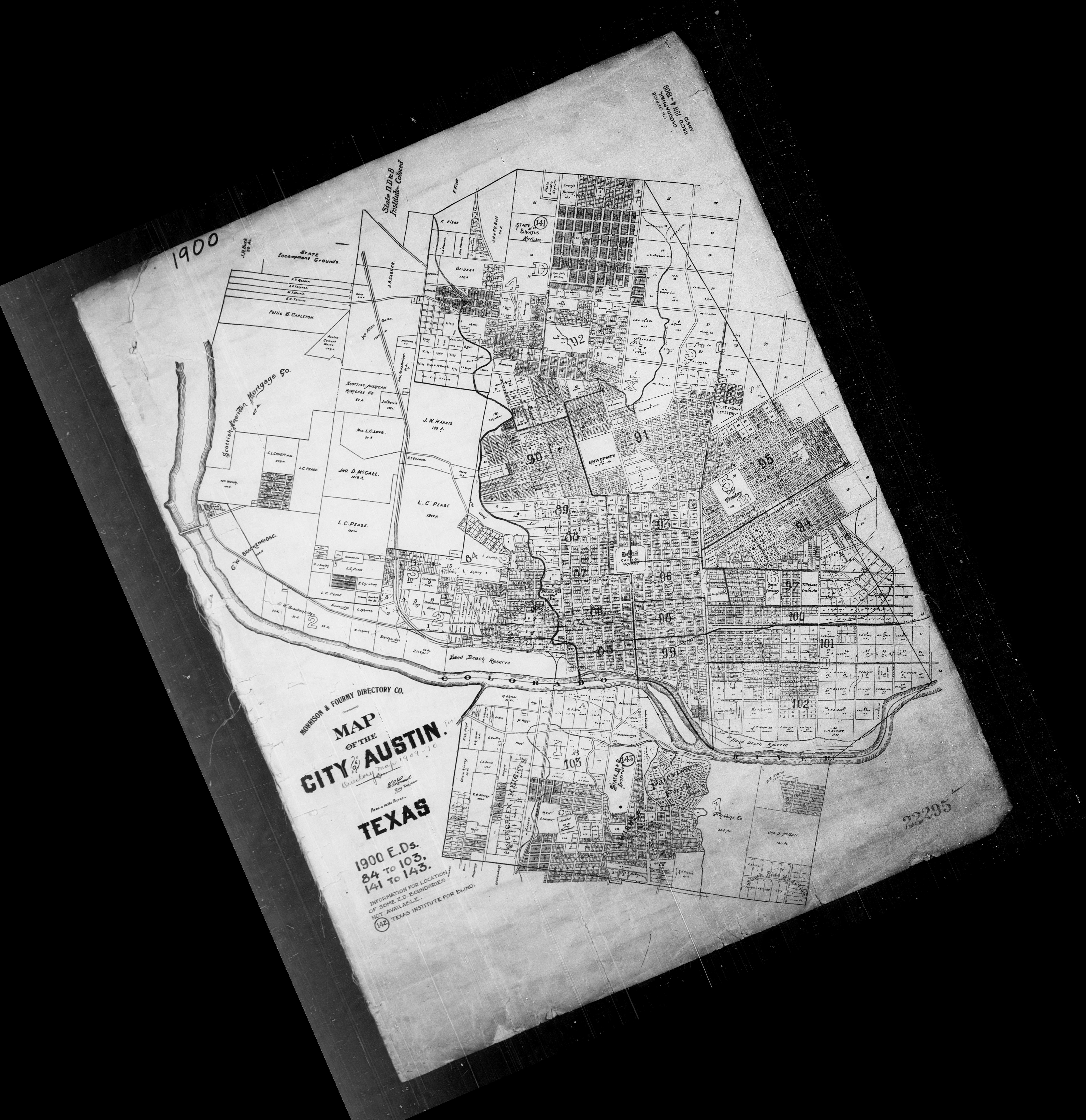 SINGAPORE City historical Map Lithograph 1910