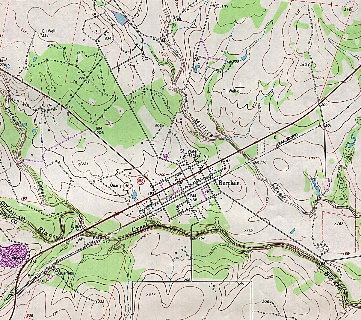 texas city maps  perrycastañeda map collection  ut library online -  berclair  topographic map