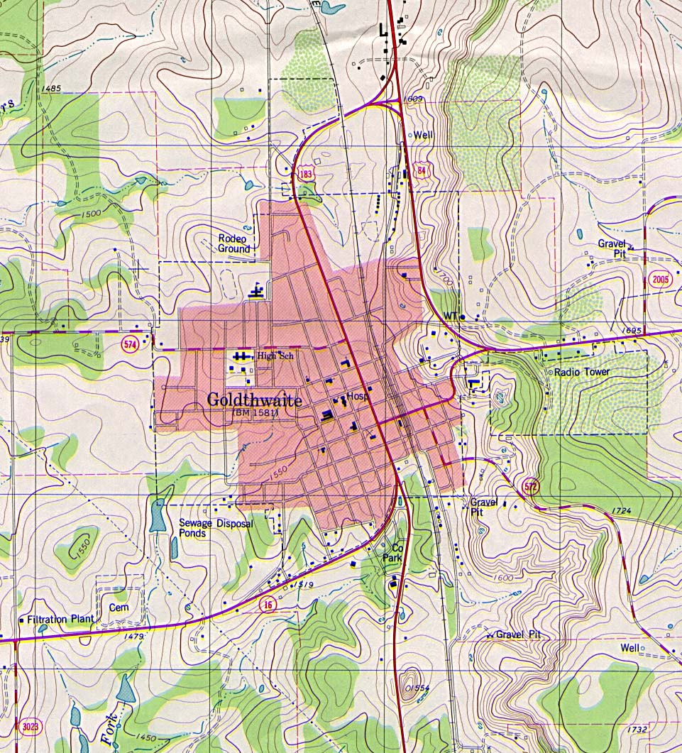 Maps of Texas, Goldthwaite [Topographic Map] 1:24,000 U.S.G.S. 1980 (366K)