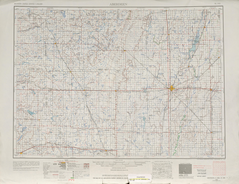 Aberdeen 1961 USA 250000 (250k)  map free download