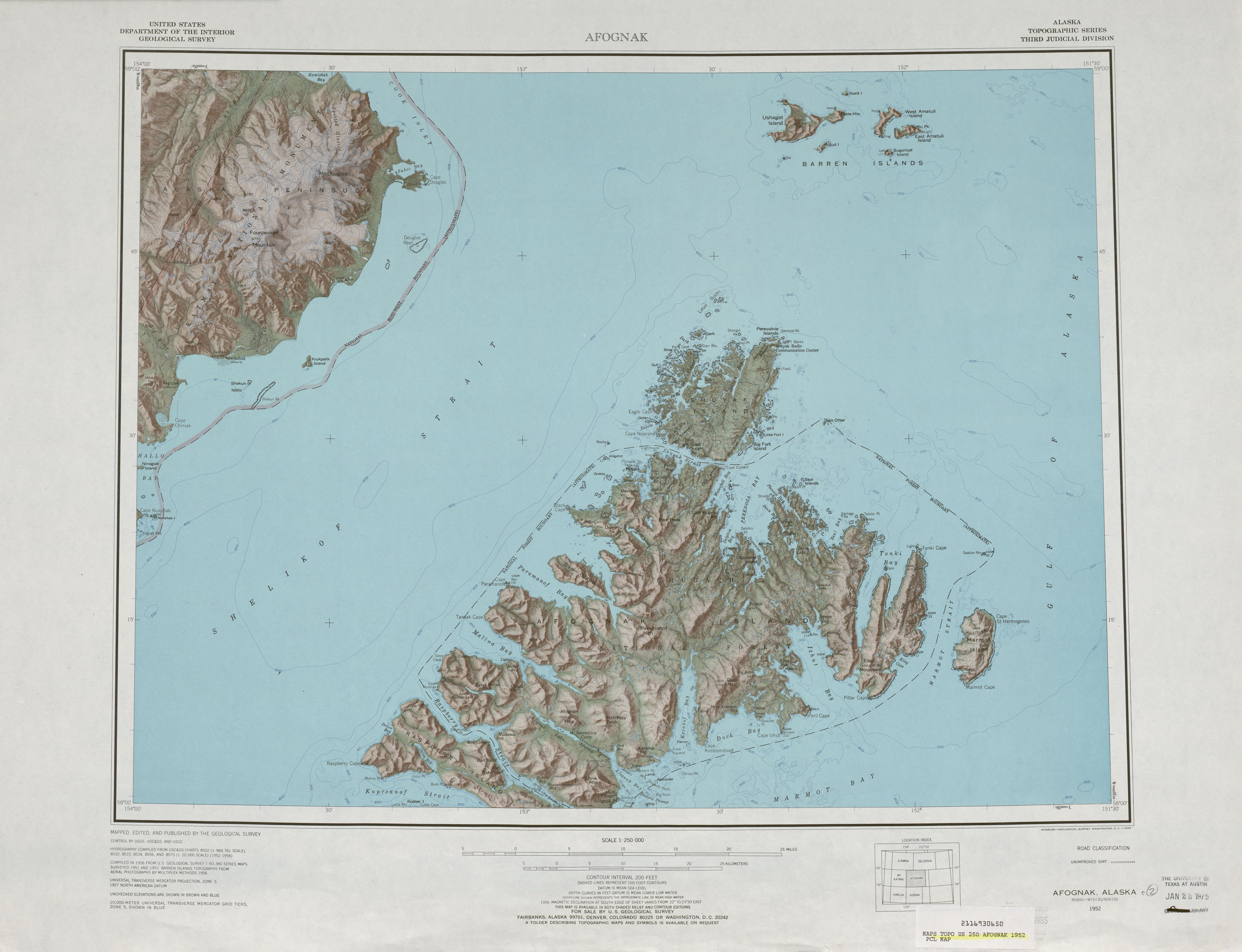 Alaska Topographic Maps PerryCastañeda Map Collection UT - Alaska and us map