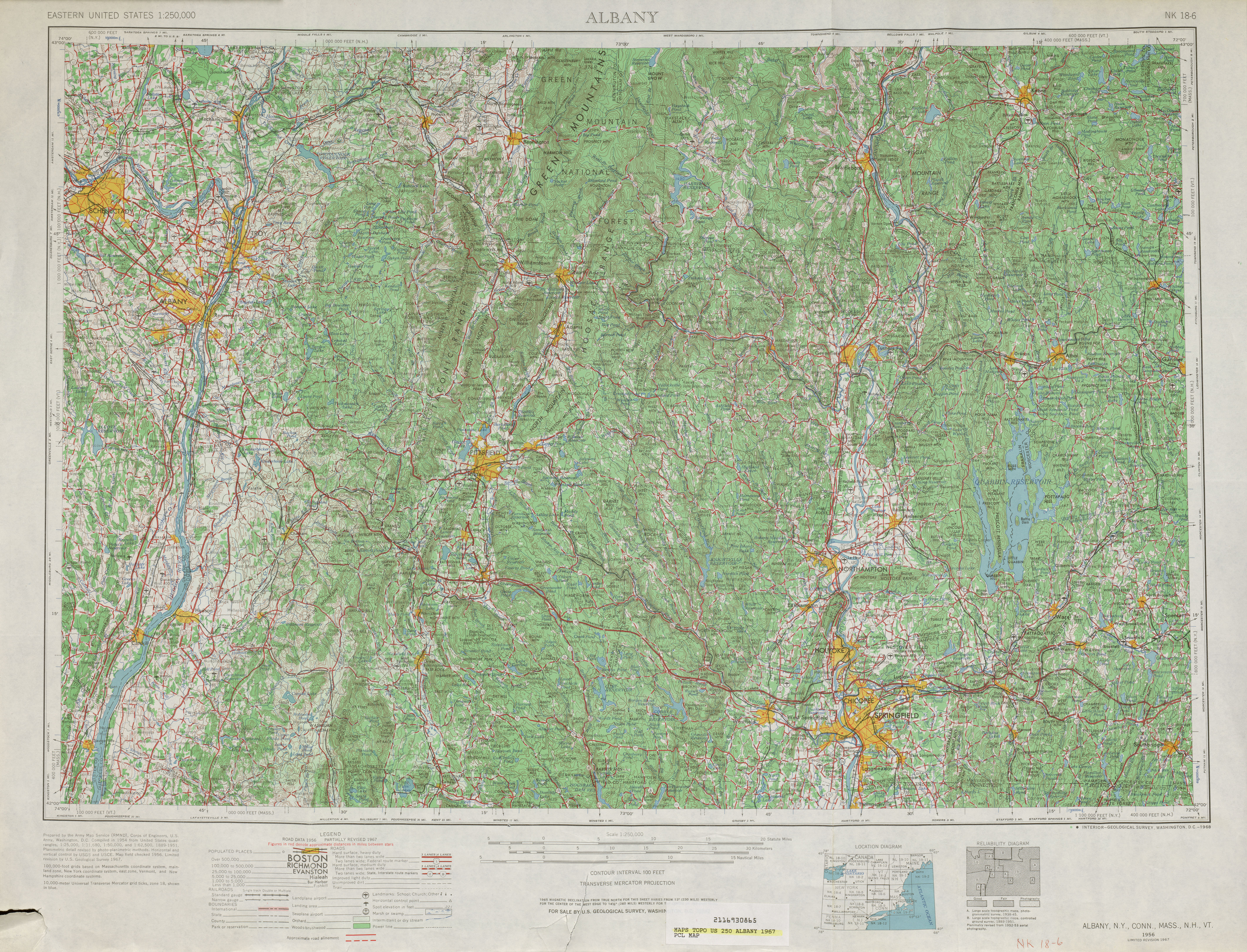 United States Topographic Maps PerryCastañeda Map - 1967 road map us